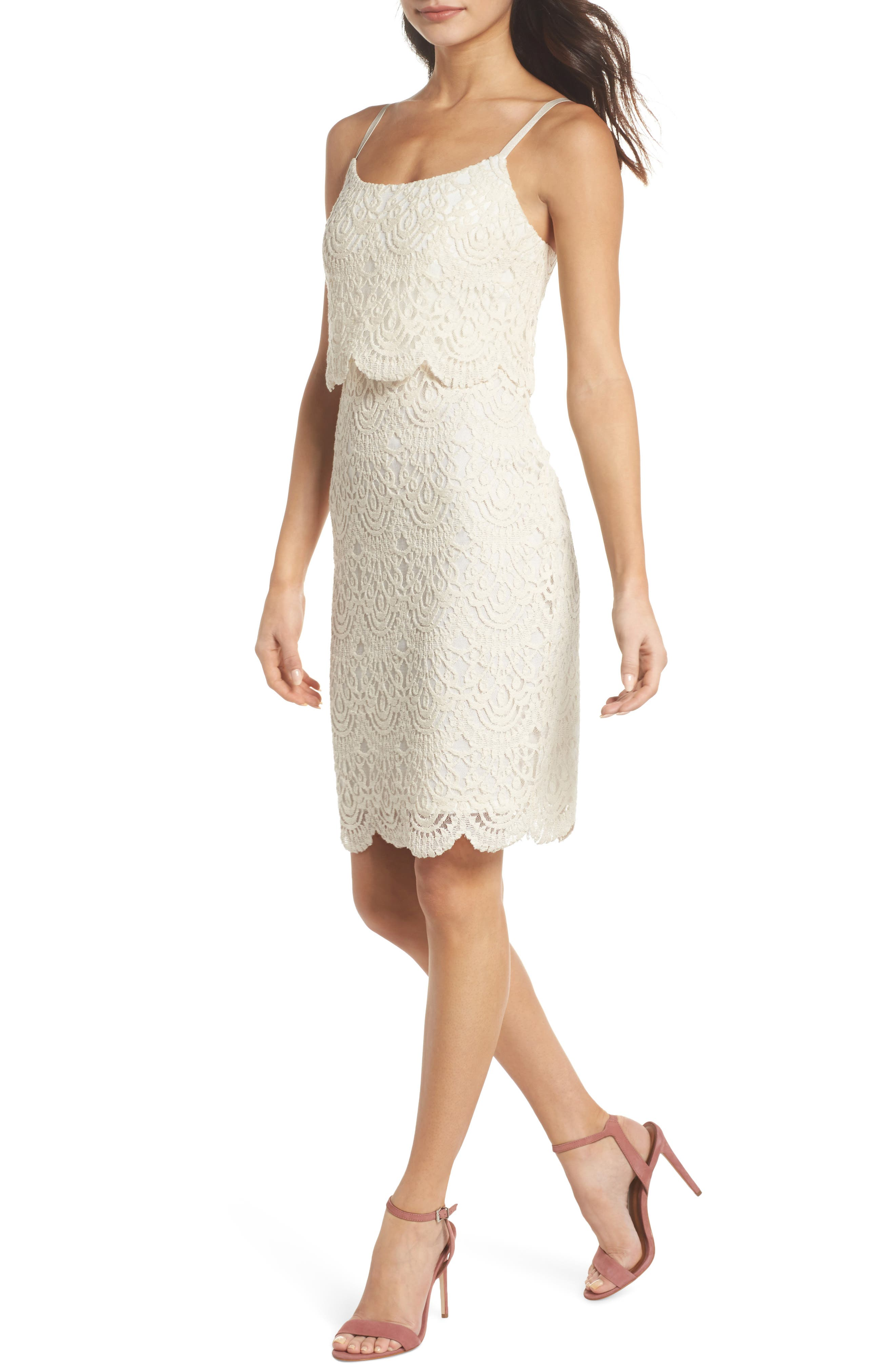 Barnsdall Afternoon Tiered Lace Dress,                         Main,                         color, 900
