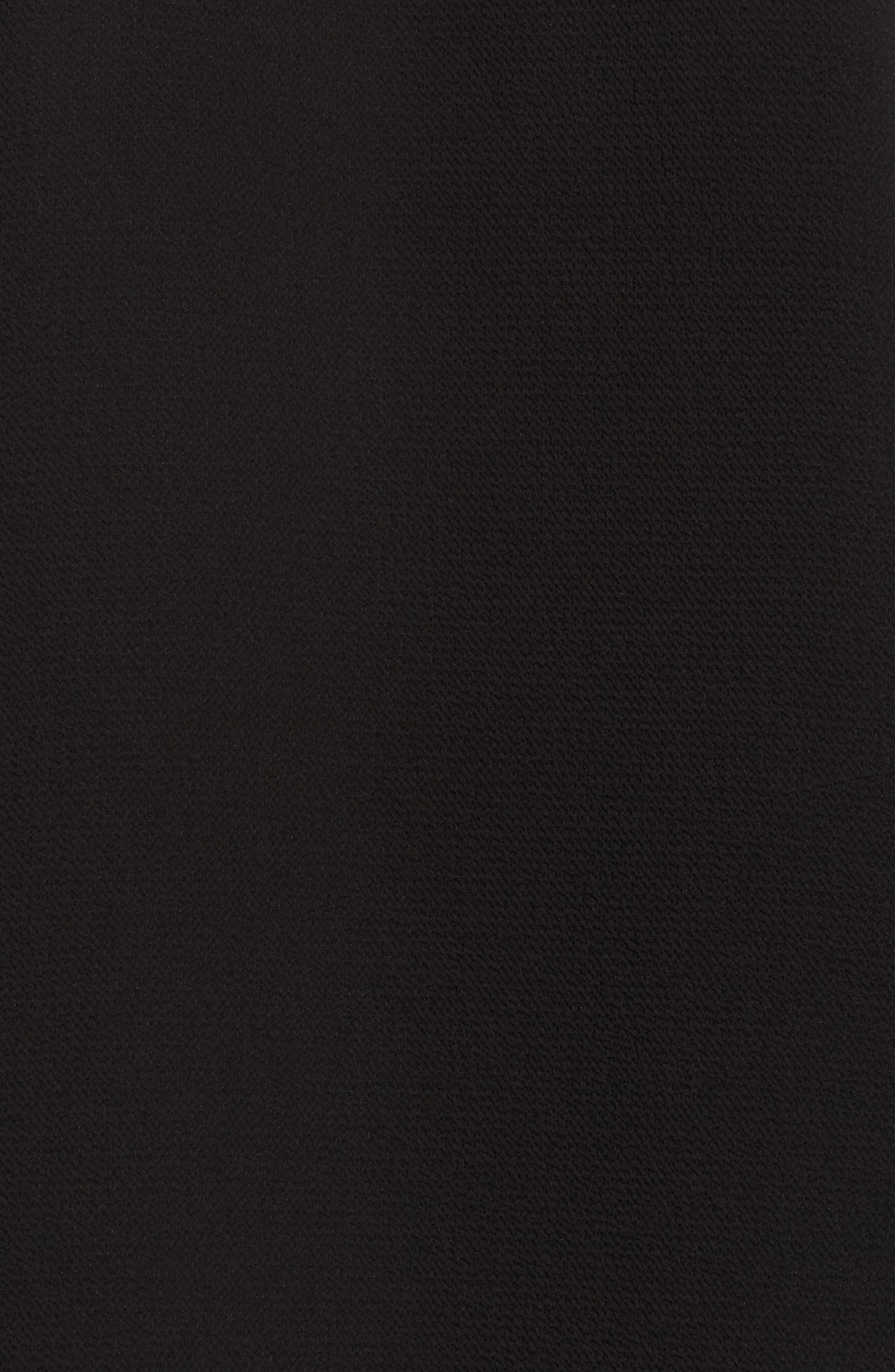 Ruffle Sleeve Pintuck Blouse,                             Alternate thumbnail 5, color,                             RICH BLACK