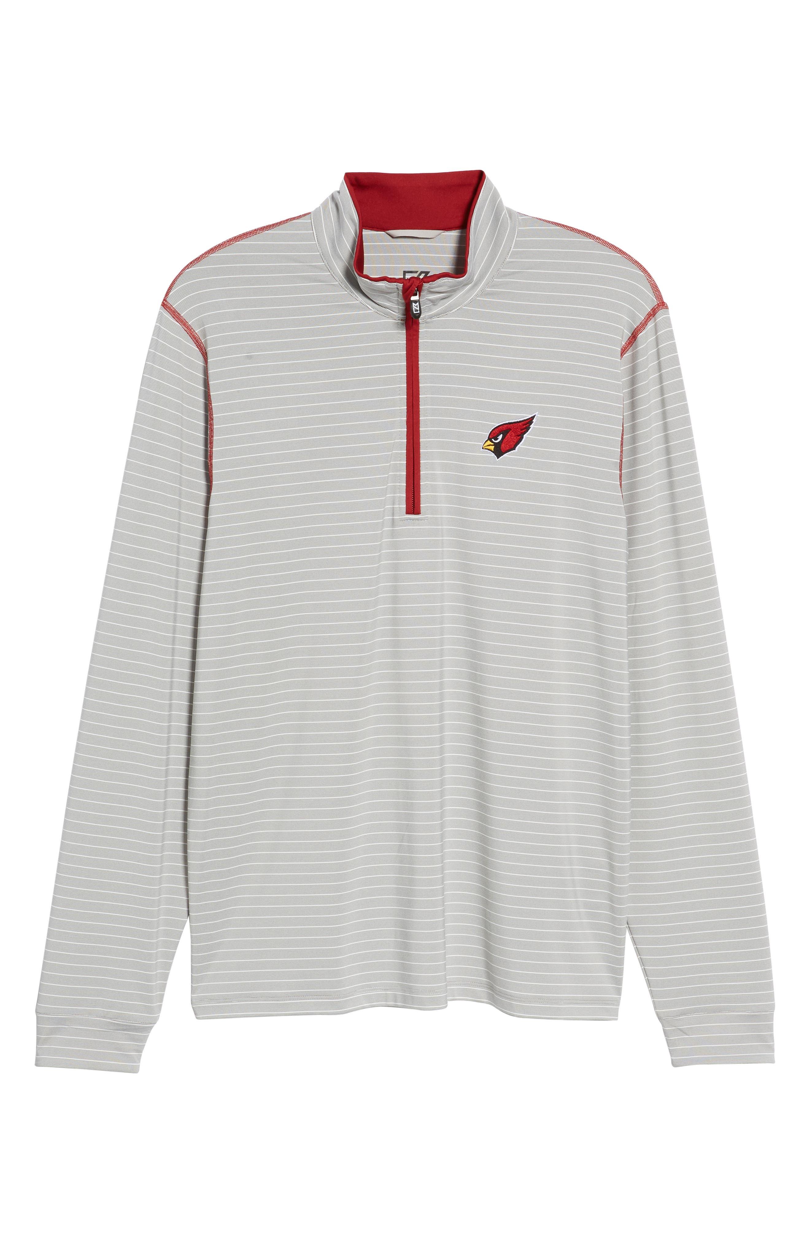 Meridian - Arizona Cardinals Regular Fit Half Zip Pullover,                             Alternate thumbnail 6, color,                             CARDINAL RED