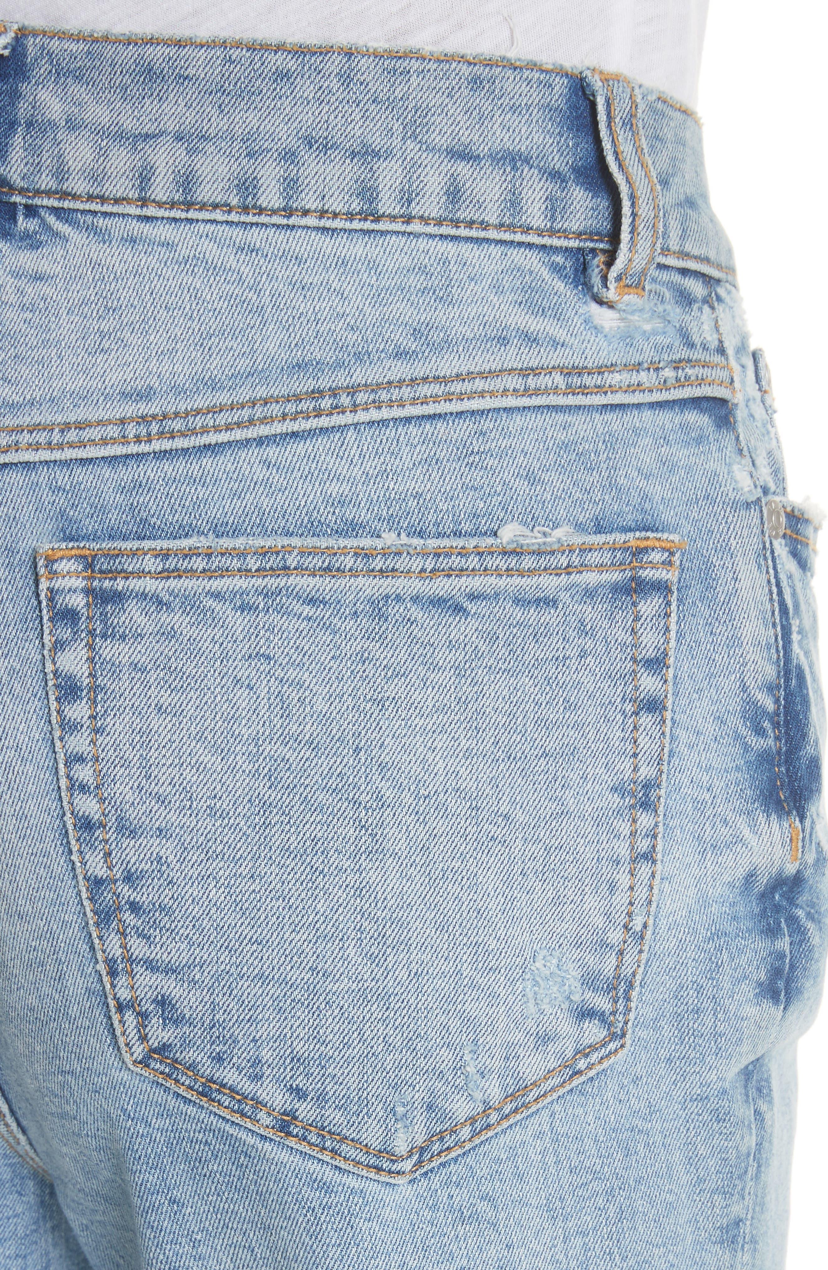 Ines Kick Bootcut Jeans,                             Alternate thumbnail 4, color,                             LEFT BANK WASH