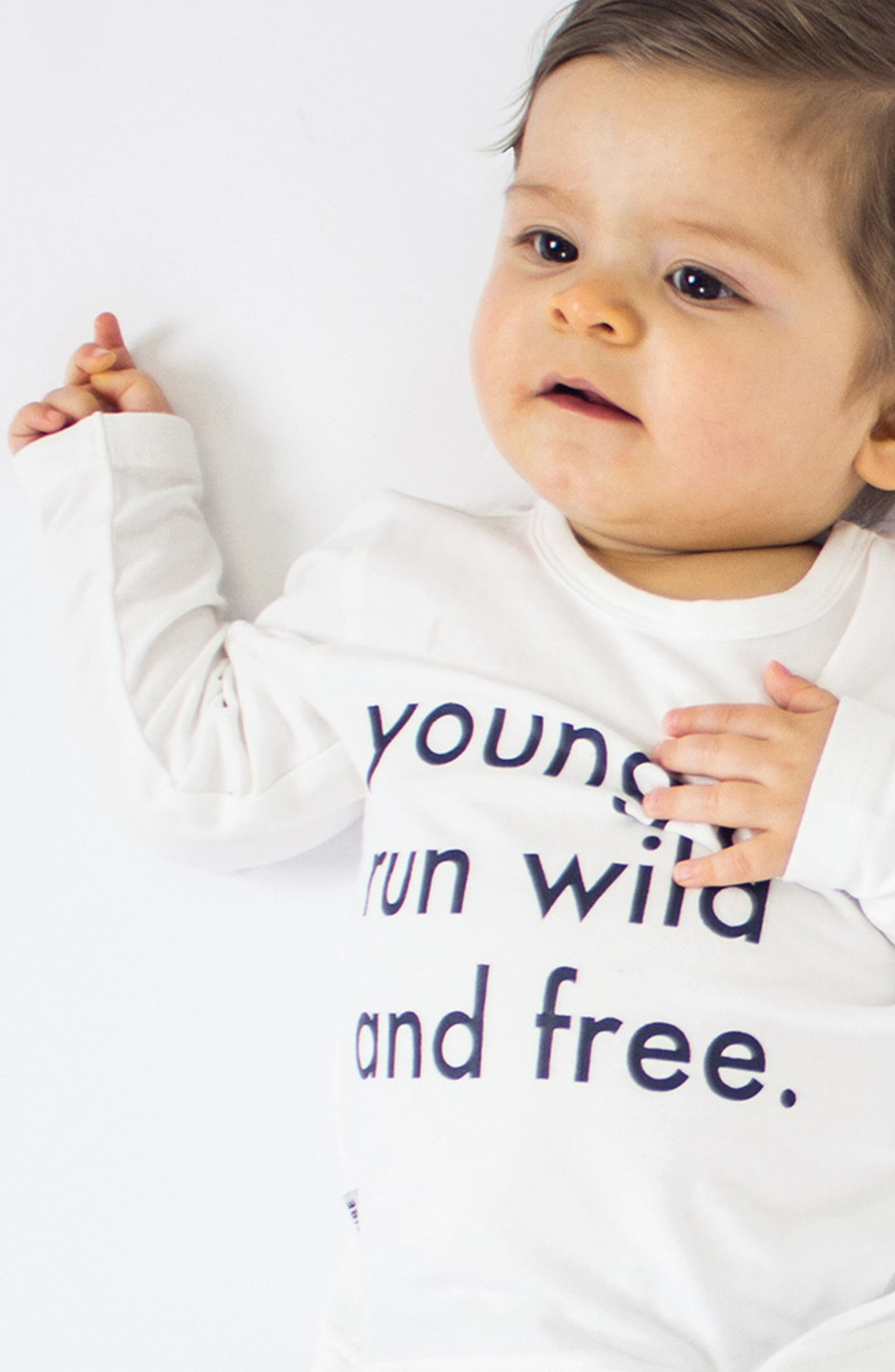 Run Wild & Free T-Shirt & Jogger Pants Set,                             Alternate thumbnail 4, color,