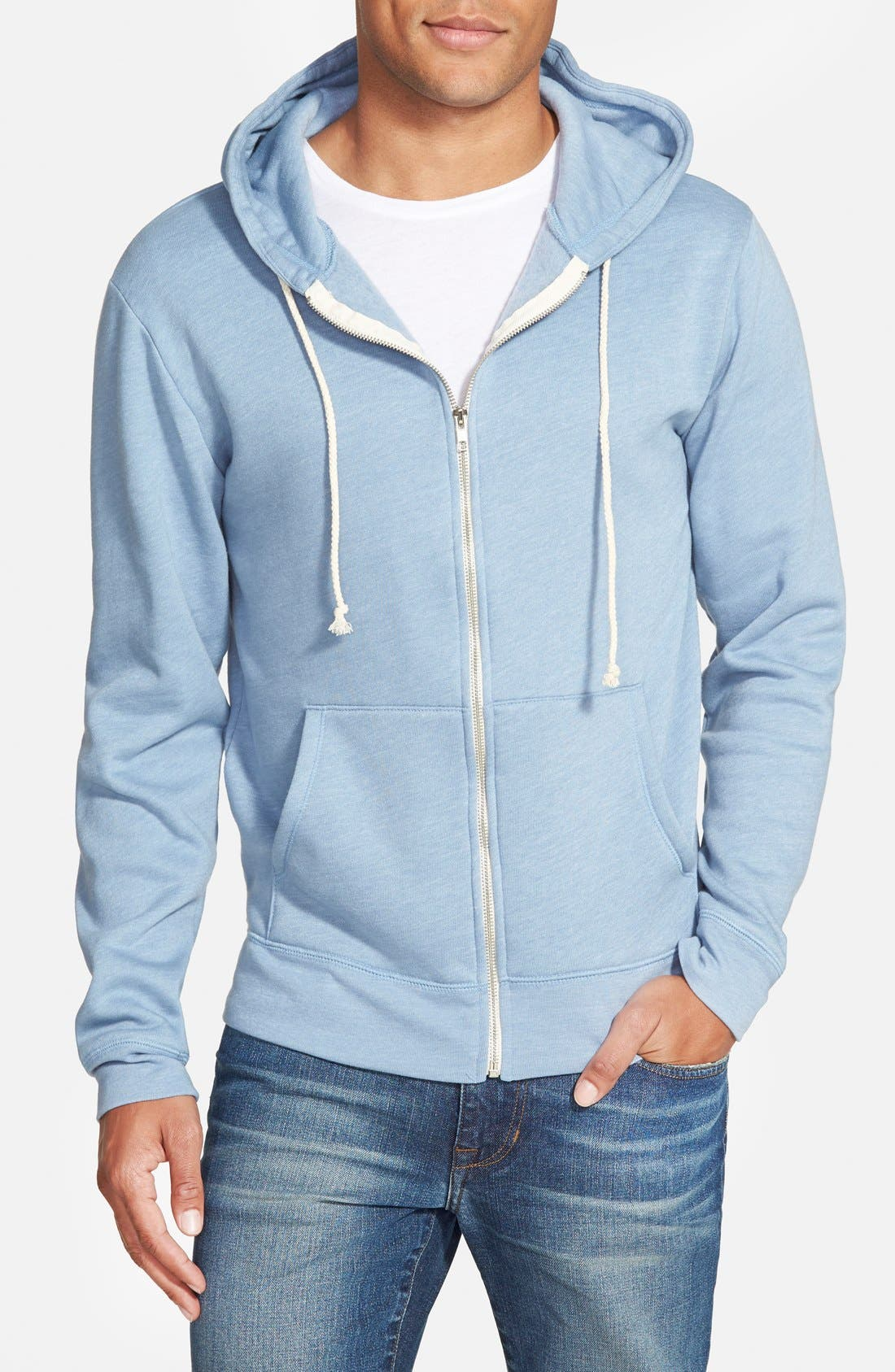 Threads for Thought Trim Fit Heathered Hoodie,                             Main thumbnail 13, color,