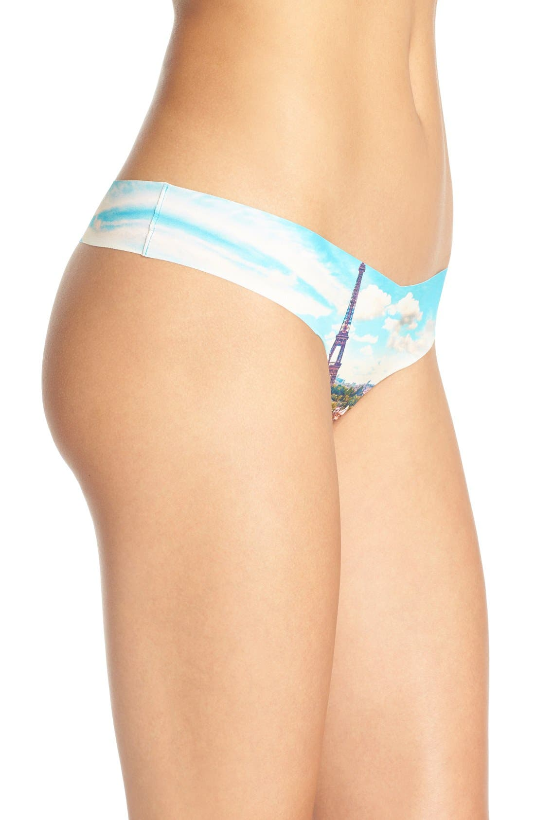 Print Microfiber Thong,                             Alternate thumbnail 232, color,