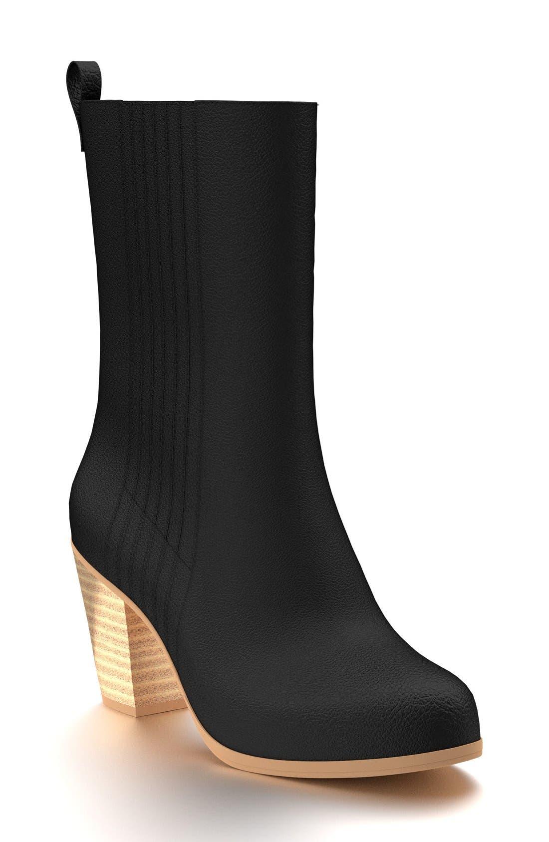 Mid Calf Boot,                         Main,                         color, 001