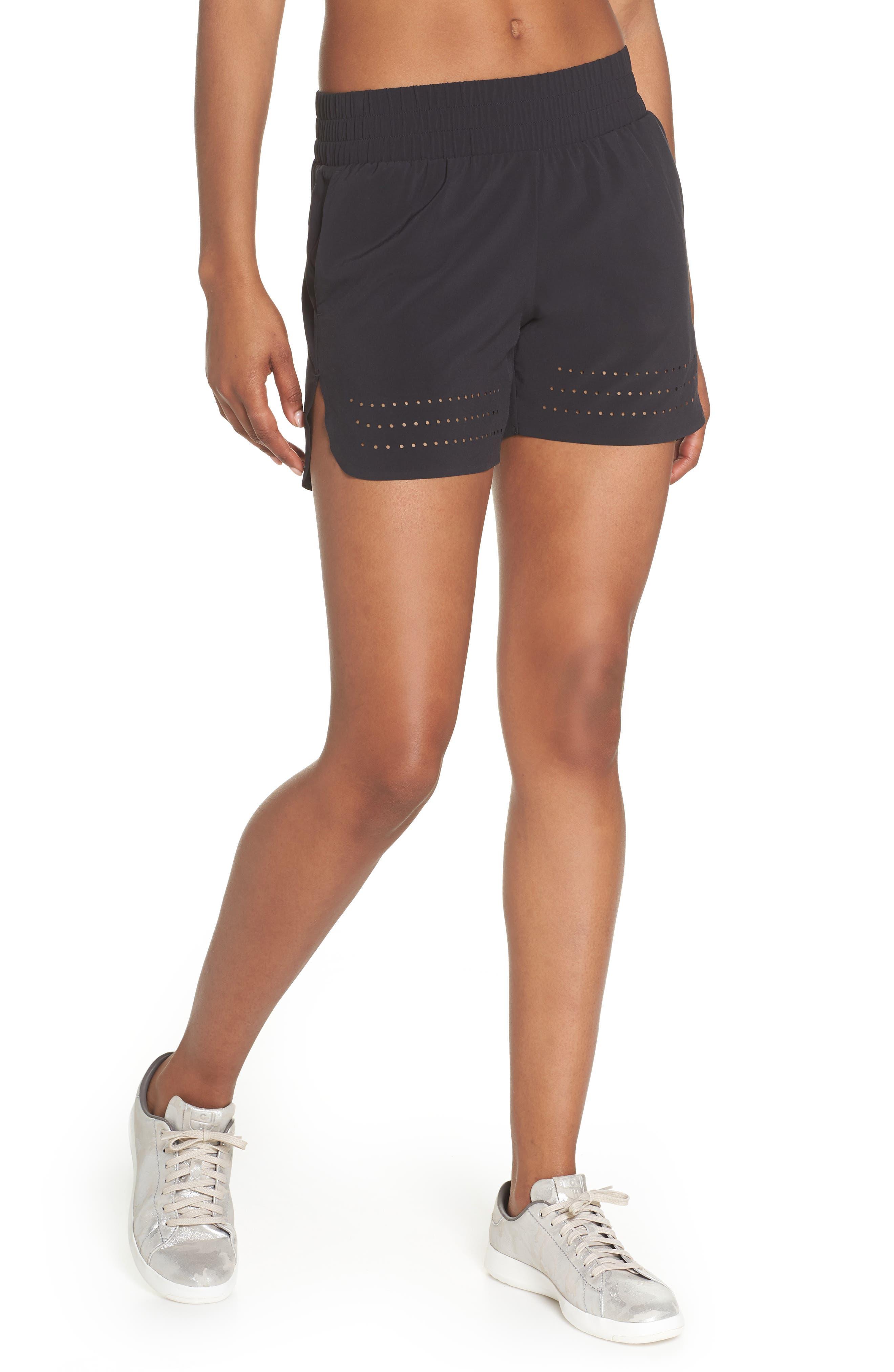 Hoop Shorts,                             Main thumbnail 1, color,                             BLACK