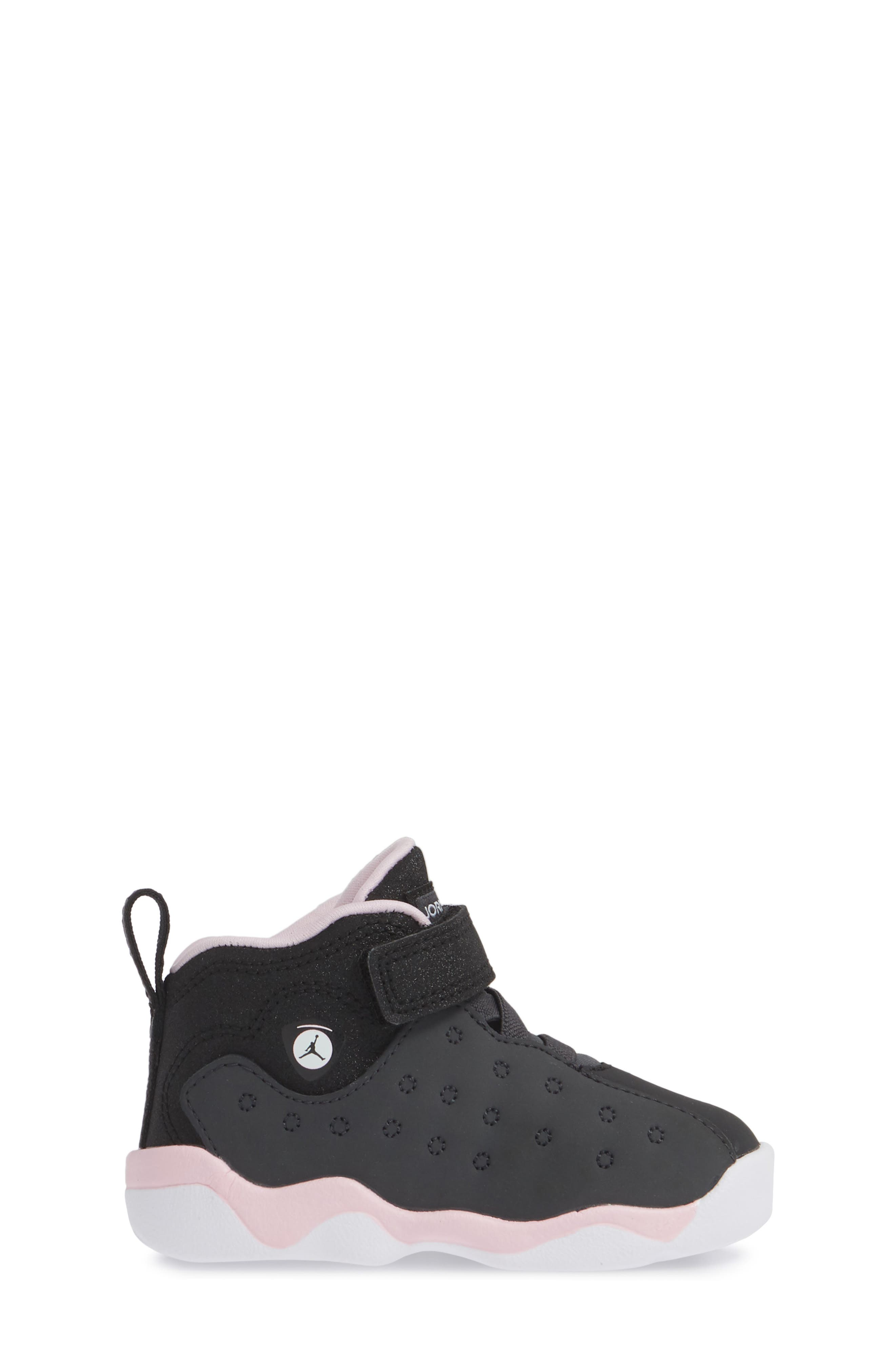 Jumpman Team II Sneaker,                             Alternate thumbnail 3, color,                             ANTHRACITE/ BLACK-PINK -WHITE