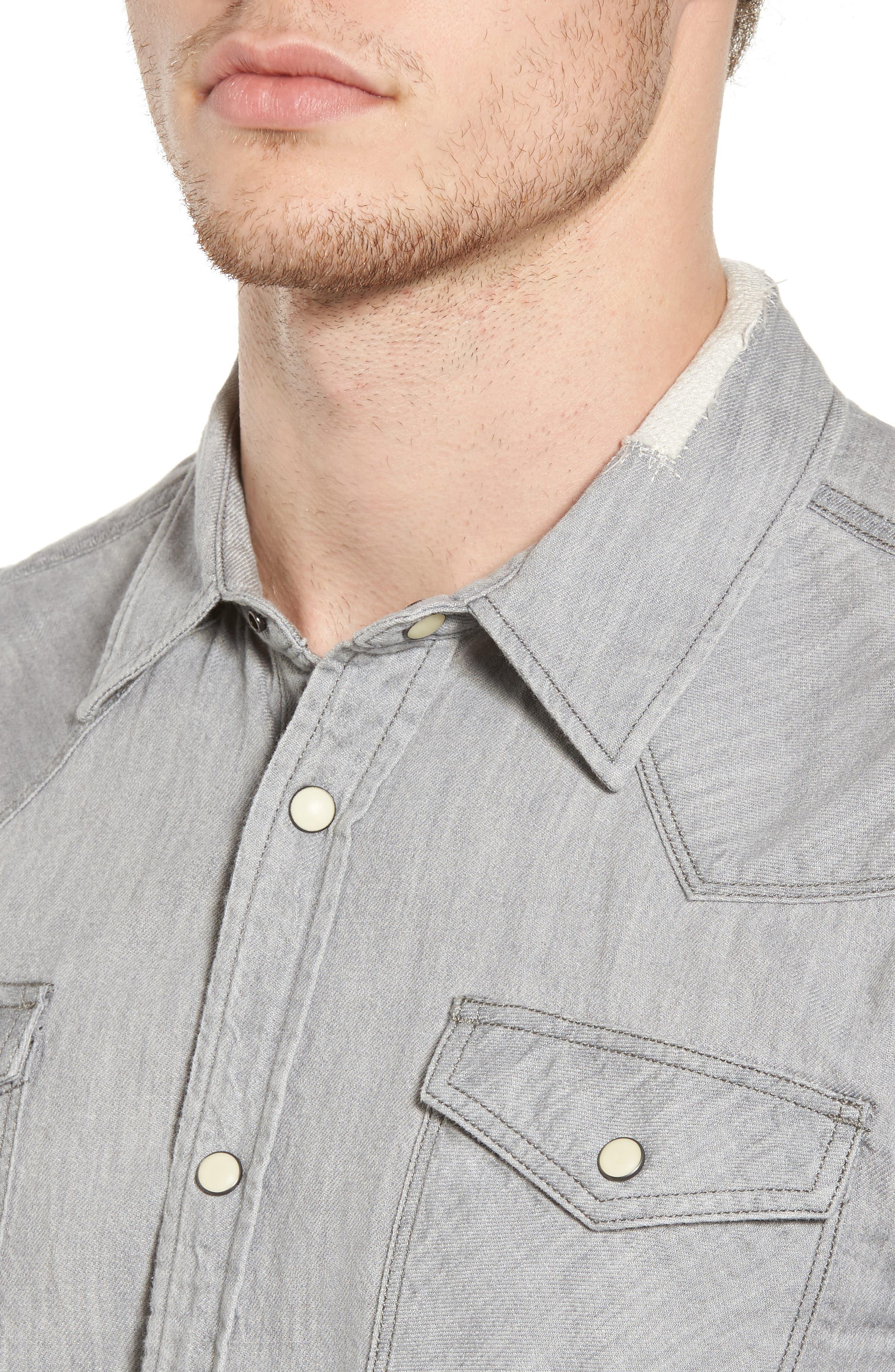 Classic Western Shirt,                             Alternate thumbnail 4, color,                             020