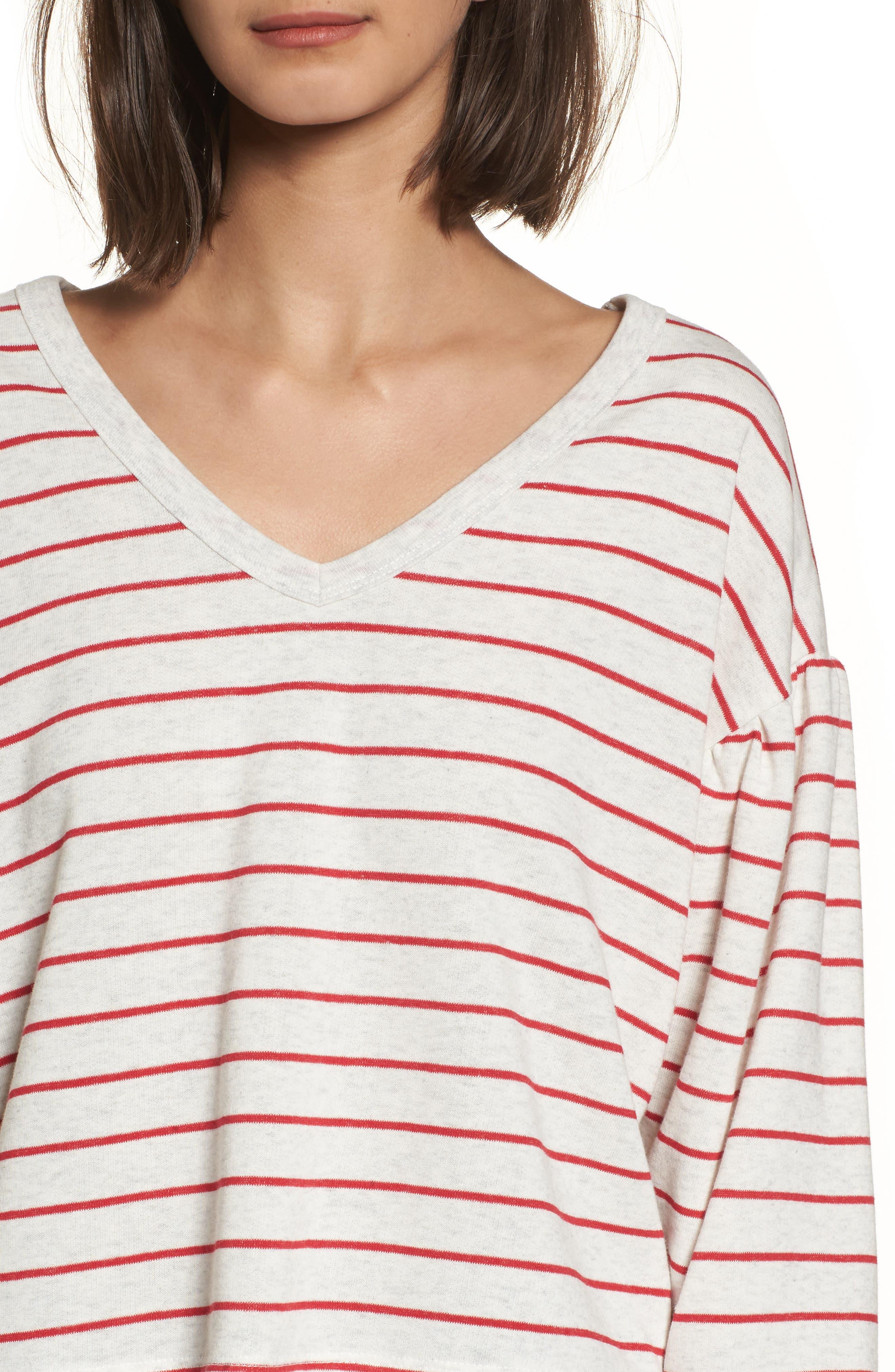 Drop Shoulder Stripe Sweater,                             Alternate thumbnail 8, color,