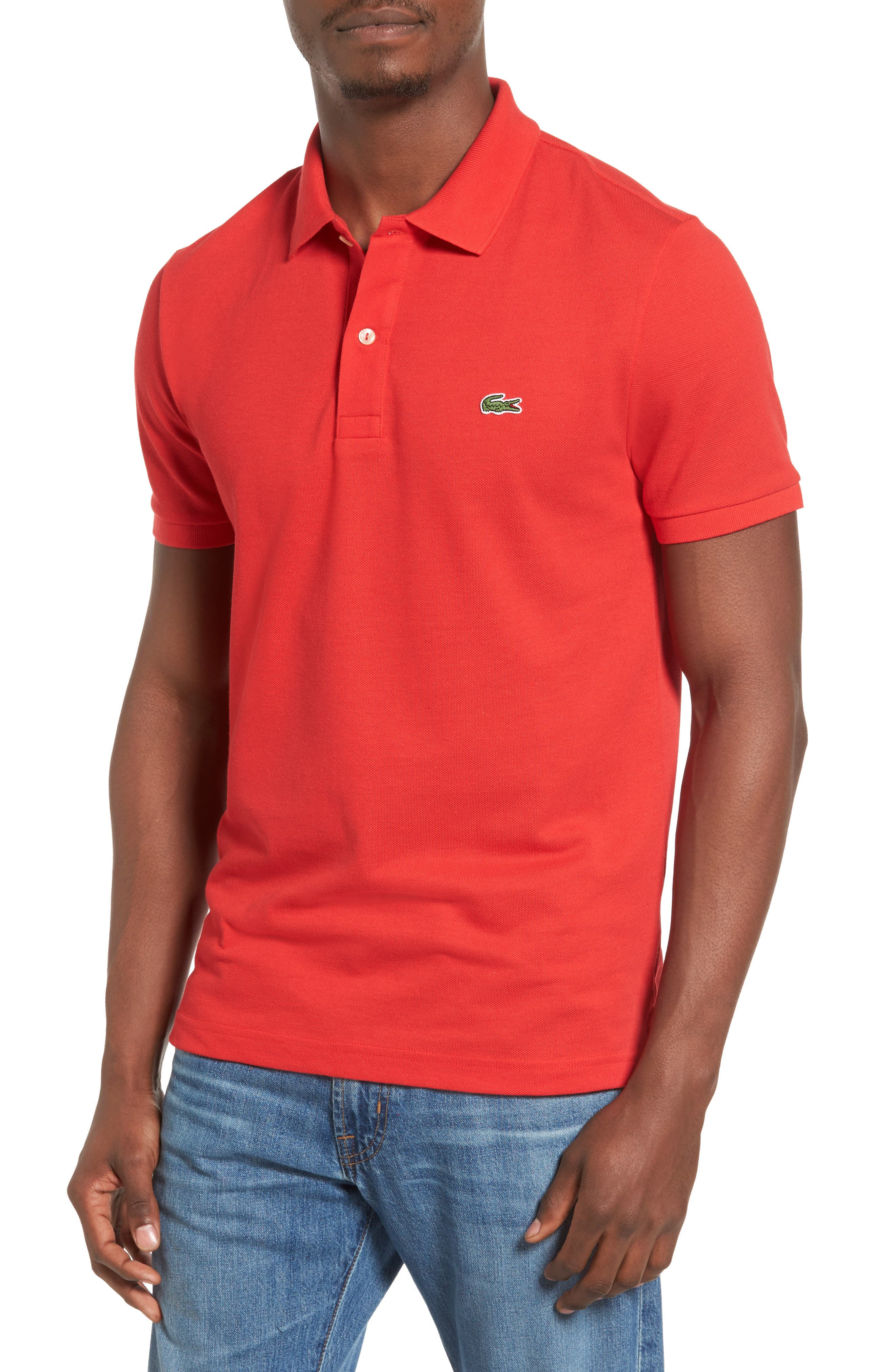 Slim Fit Piqué Polo,                             Main thumbnail 10, color,