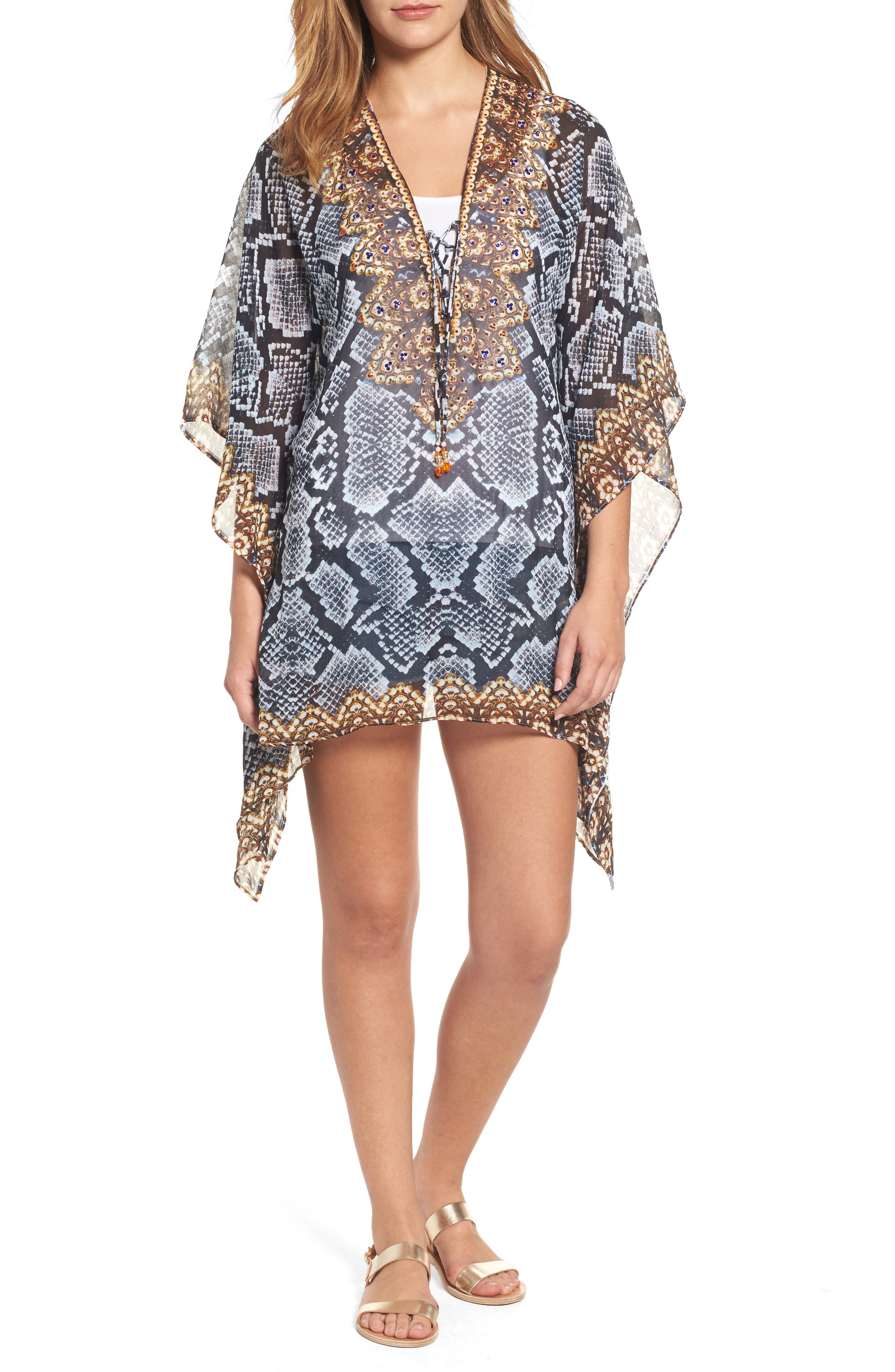 Shiraz Short Kaftan,                         Main,                         color, 039