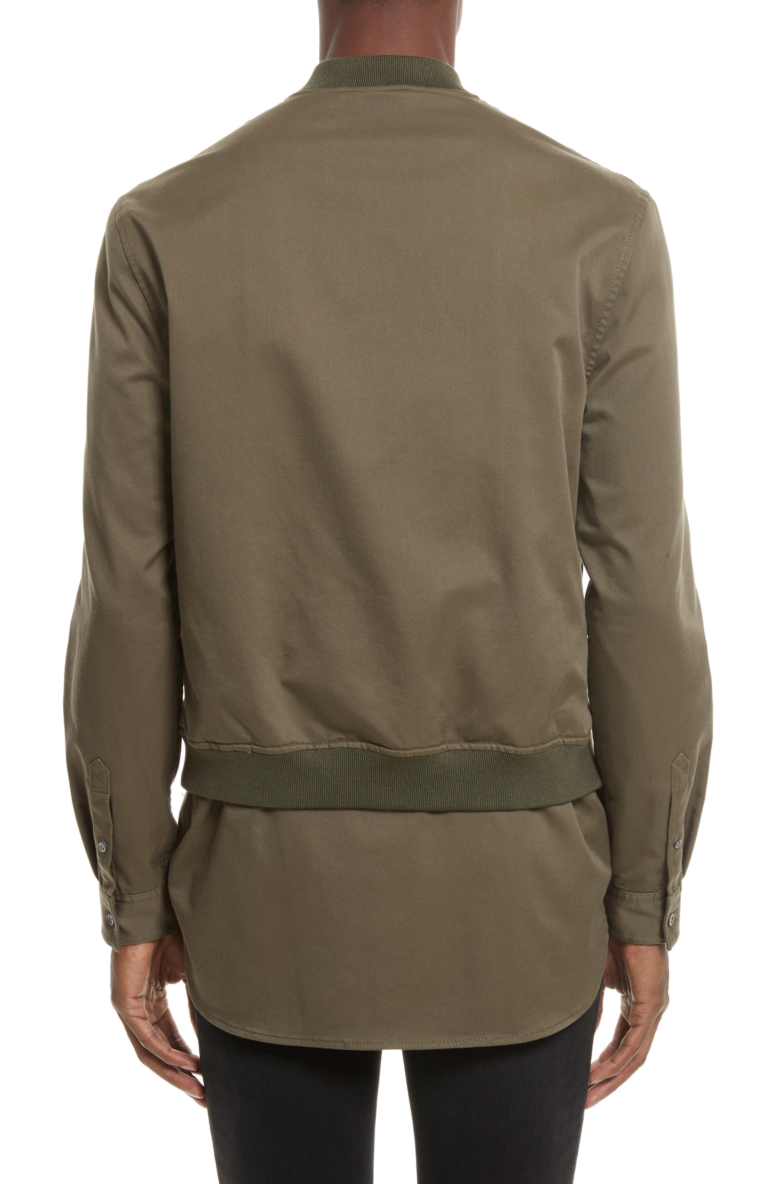 Bomber Shirt Jacket,                             Alternate thumbnail 2, color,                             ARMY