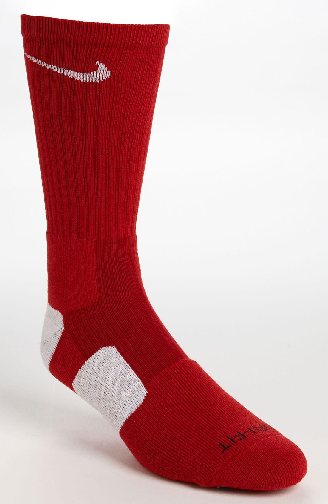 'Elite Basketball' Crew Socks,                             Main thumbnail 30, color,
