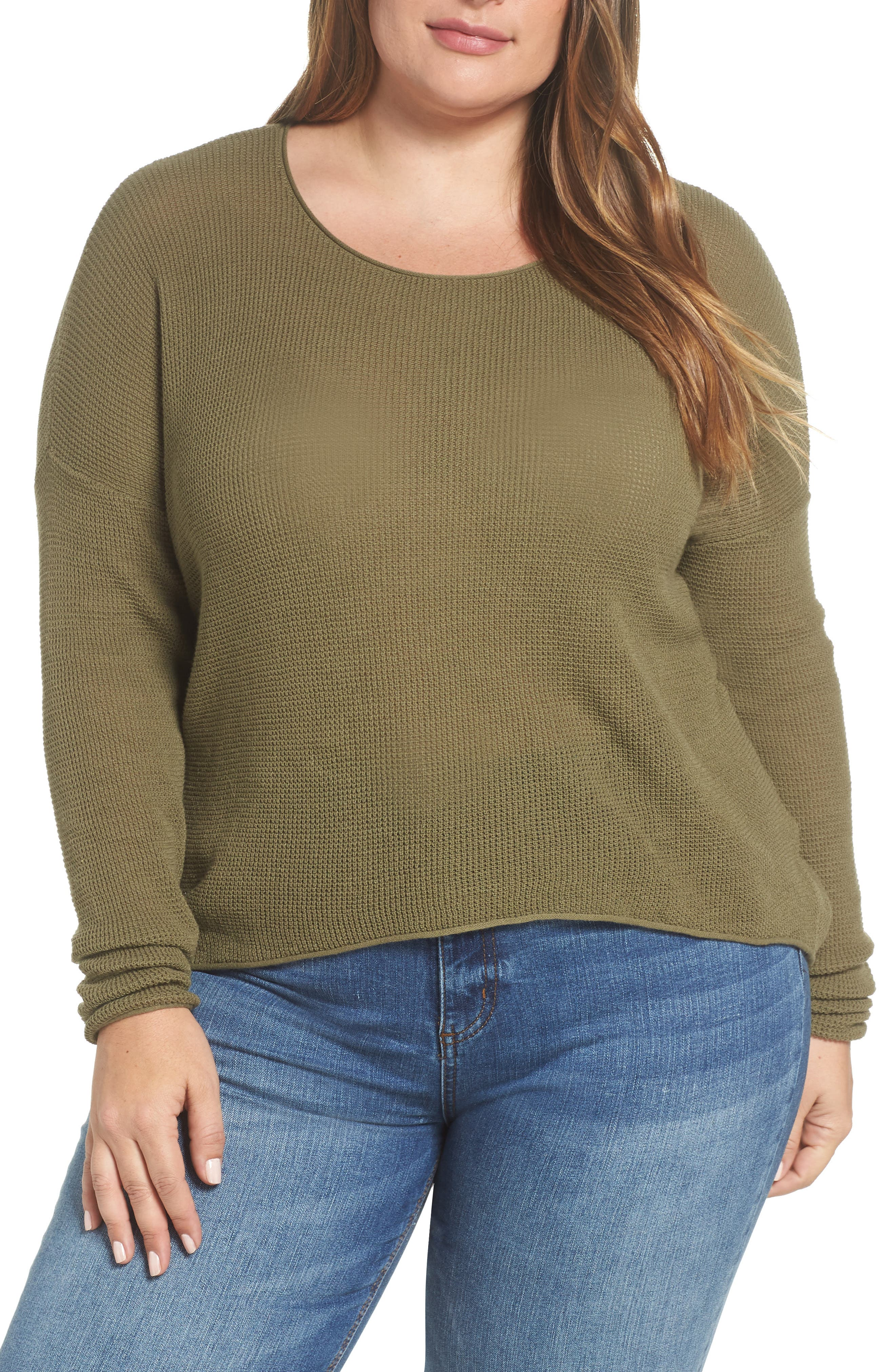 Coastal Thermal Sweater,                             Alternate thumbnail 2, color,                             OLIVE BURNT