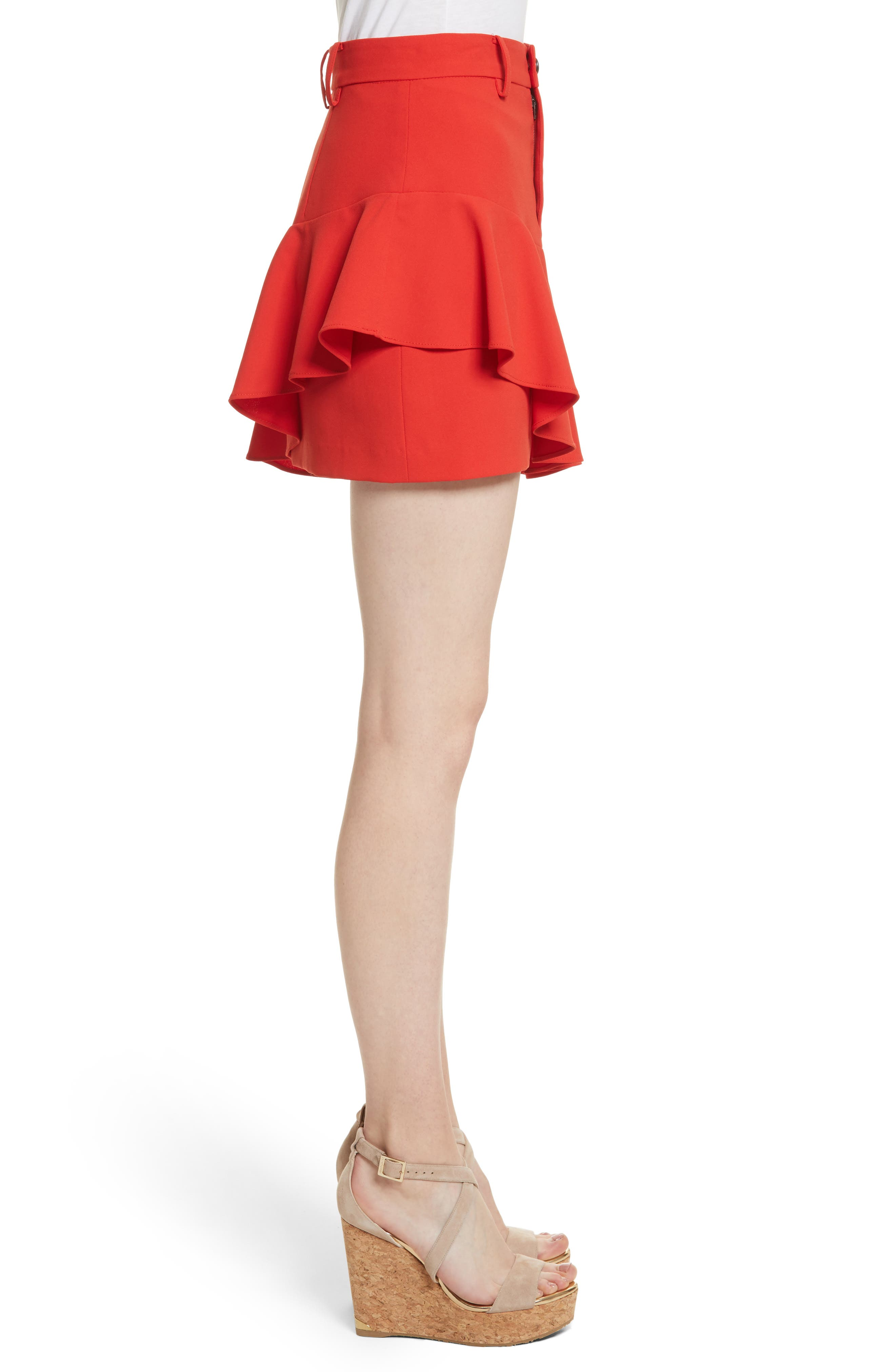 Nisa Ruffle Miniskirt,                             Alternate thumbnail 3, color,                             612