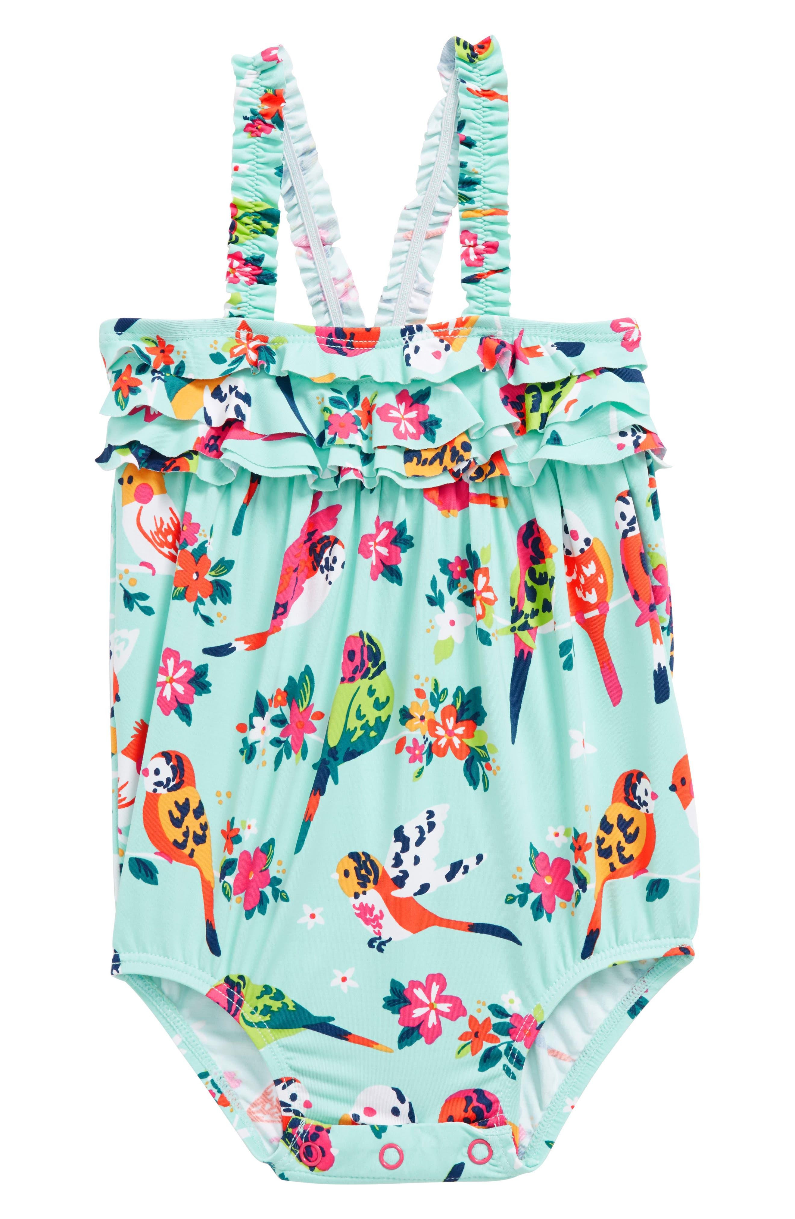 Mini Ruffle One-Piece Swimsuit,                         Main,                         color, 400