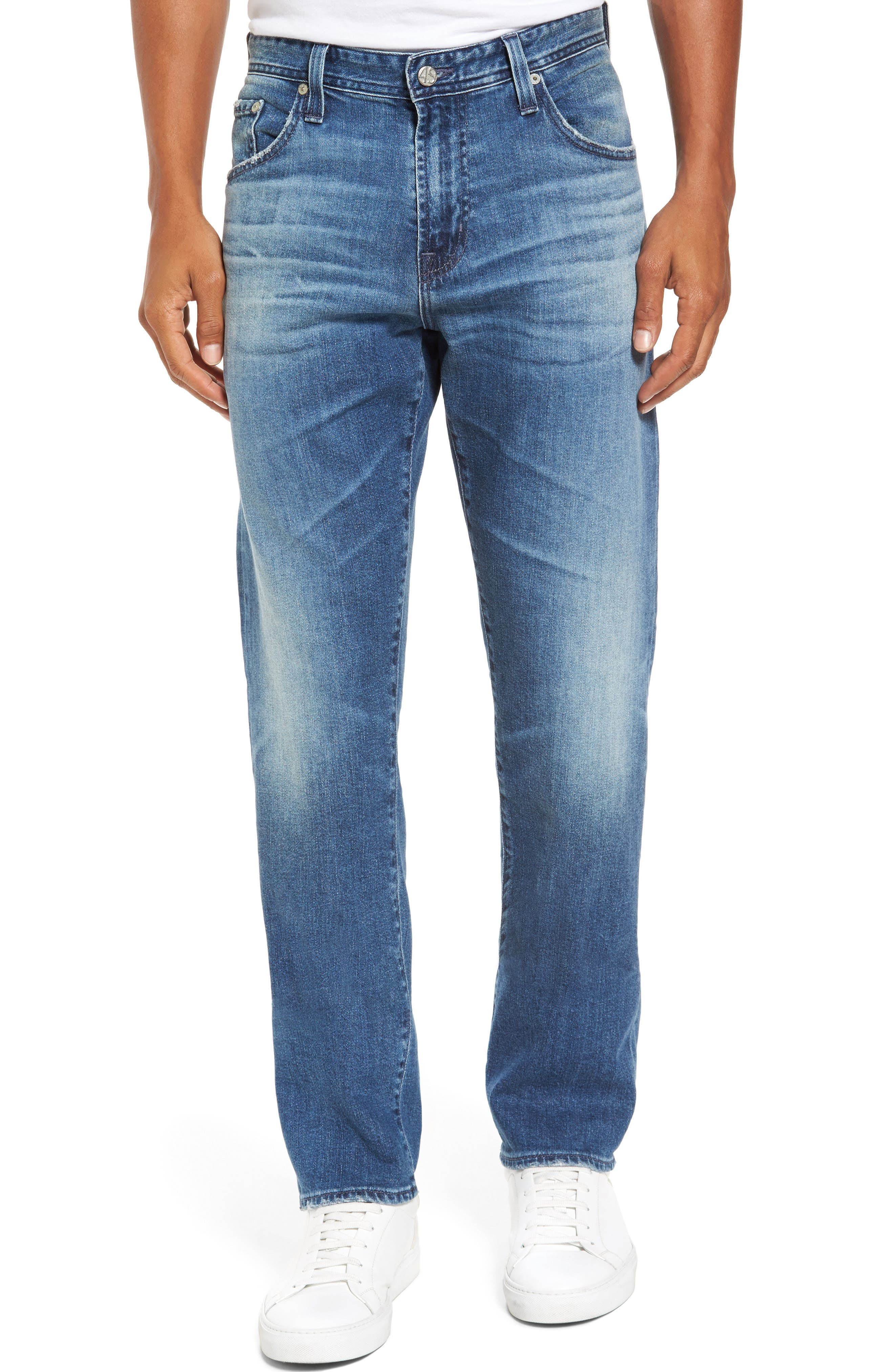 Ives Straight Fit Jeans,                         Main,                         color, 468