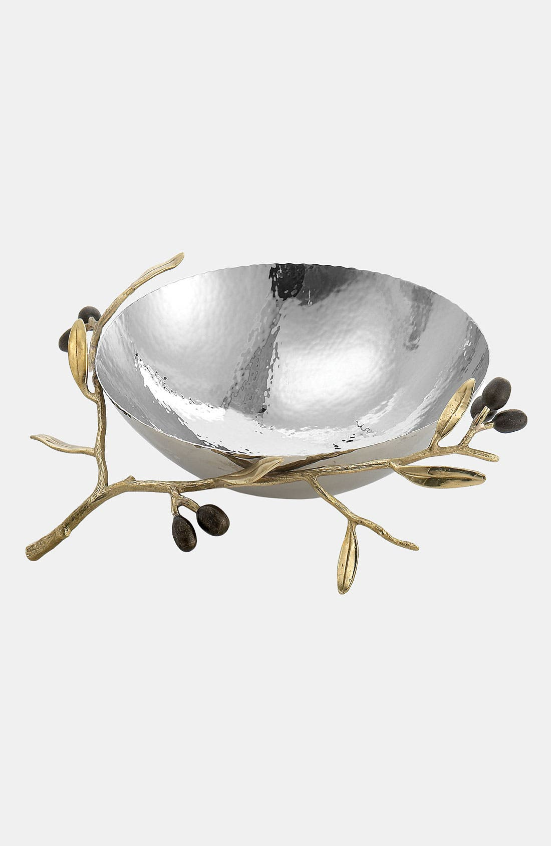 'Olive Branch Gold - Medium' Serving Bowl,                             Main thumbnail 1, color,                             NO COLOR
