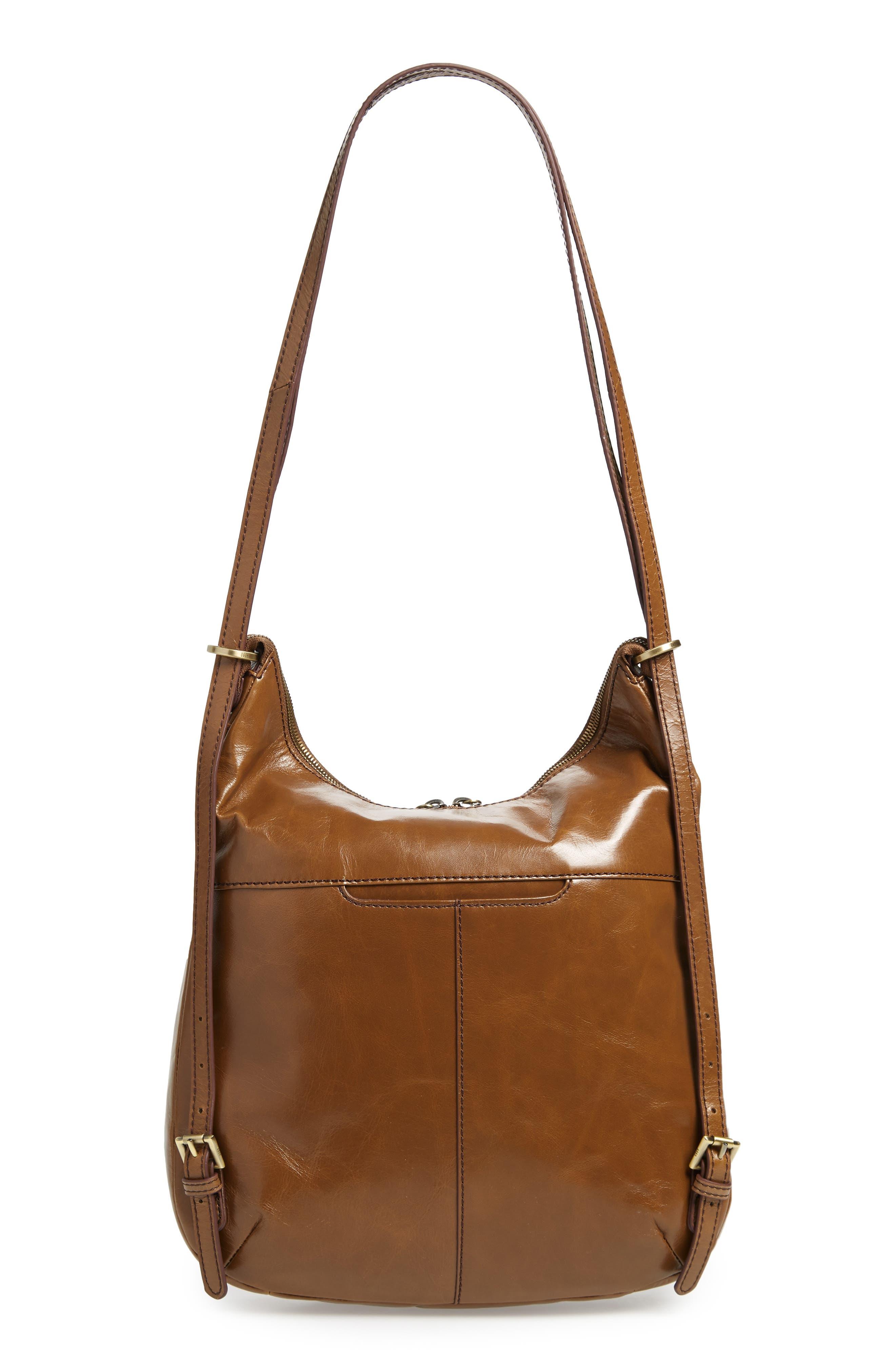 Merrin Leather Backpack,                             Alternate thumbnail 6, color,                             MINK