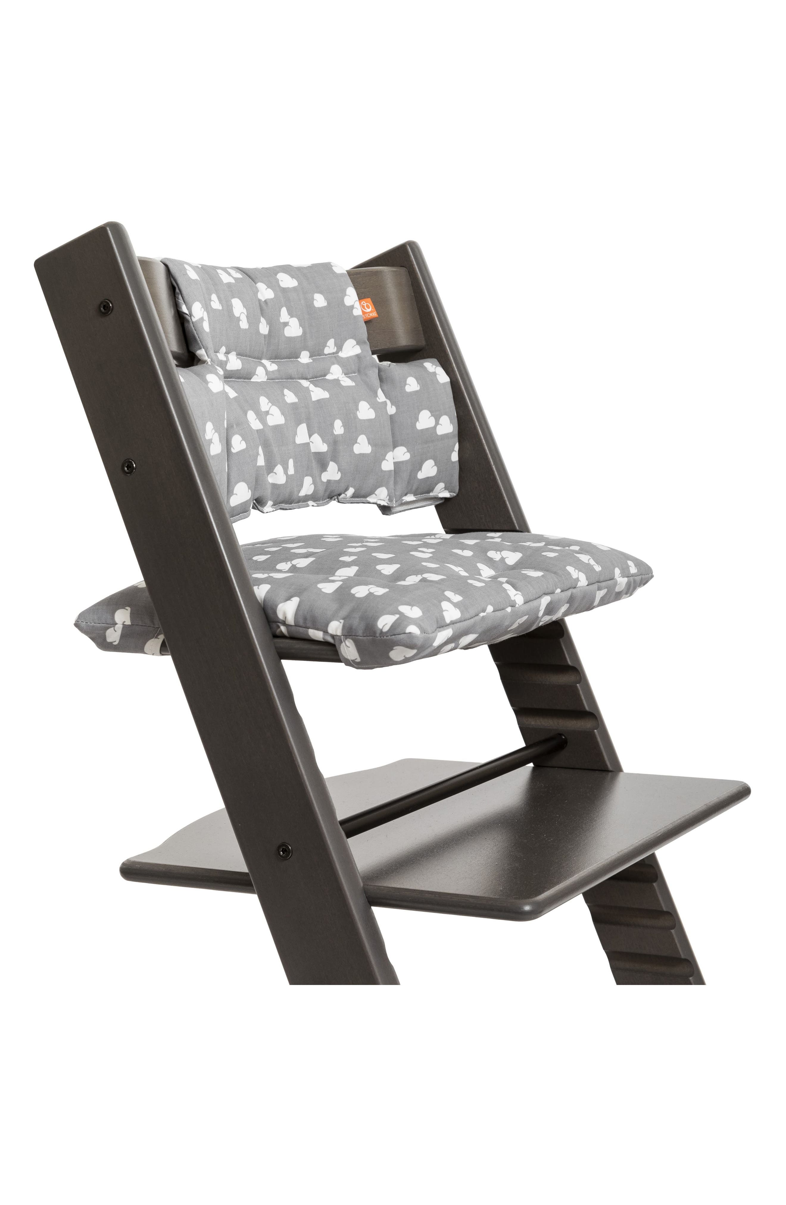 Seat Cushion for Tripp Trapp<sup>®</sup> Chair,                         Main,                         color, GREY CLOUDS