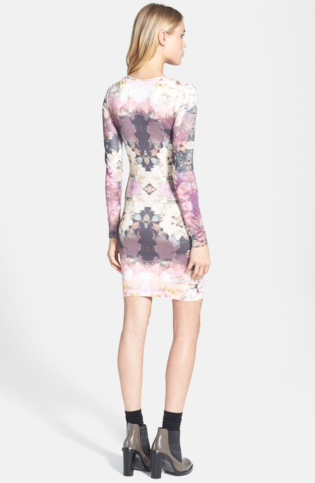 'Mirror Bloom' Jersey Body-Con Dress,                             Alternate thumbnail 2, color,                             500