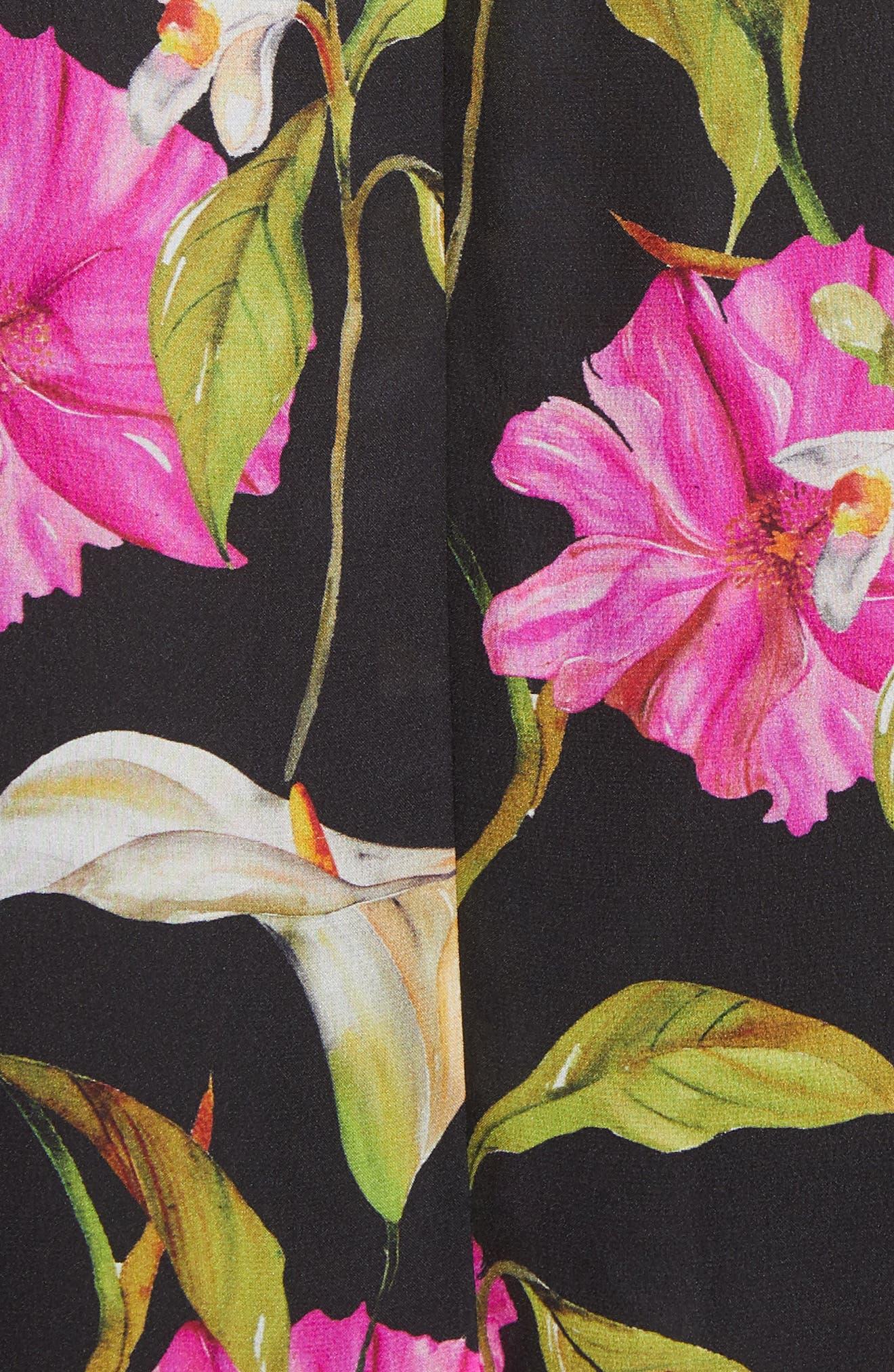 Jill Large Calla Lily Shift Dress,                             Alternate thumbnail 5, color,                             004