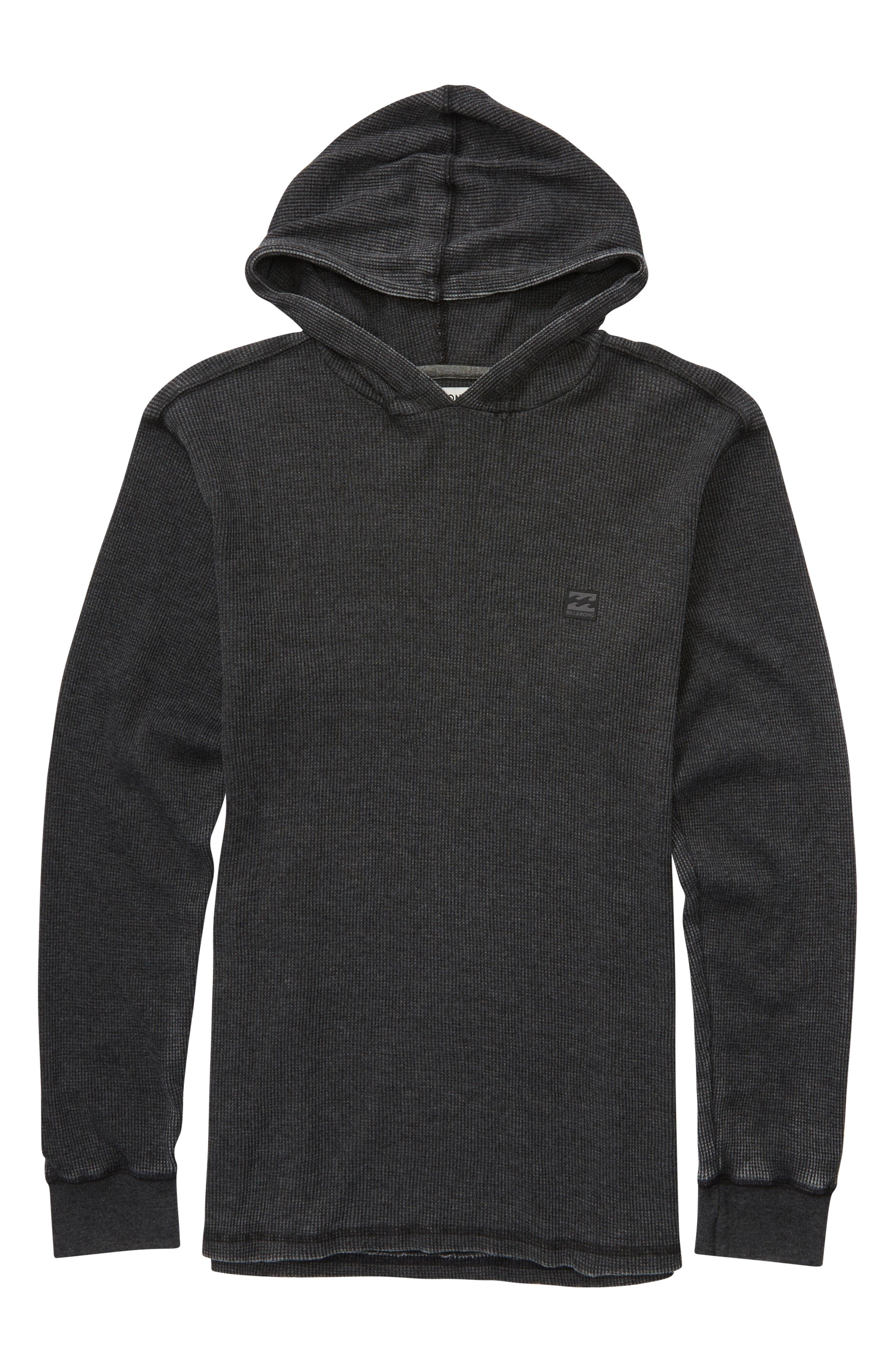 Boys Billabong Keystone Thermal Pullover Hoodie Size L (1416)  Black