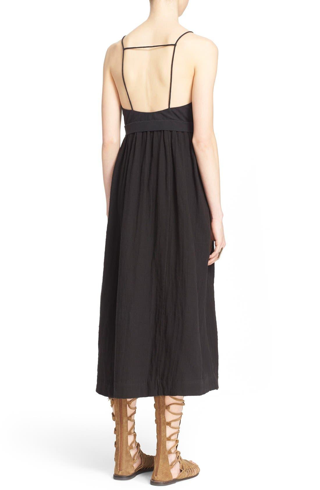 'Ojai' Cotton Midi Dress,                             Alternate thumbnail 3, color,                             001