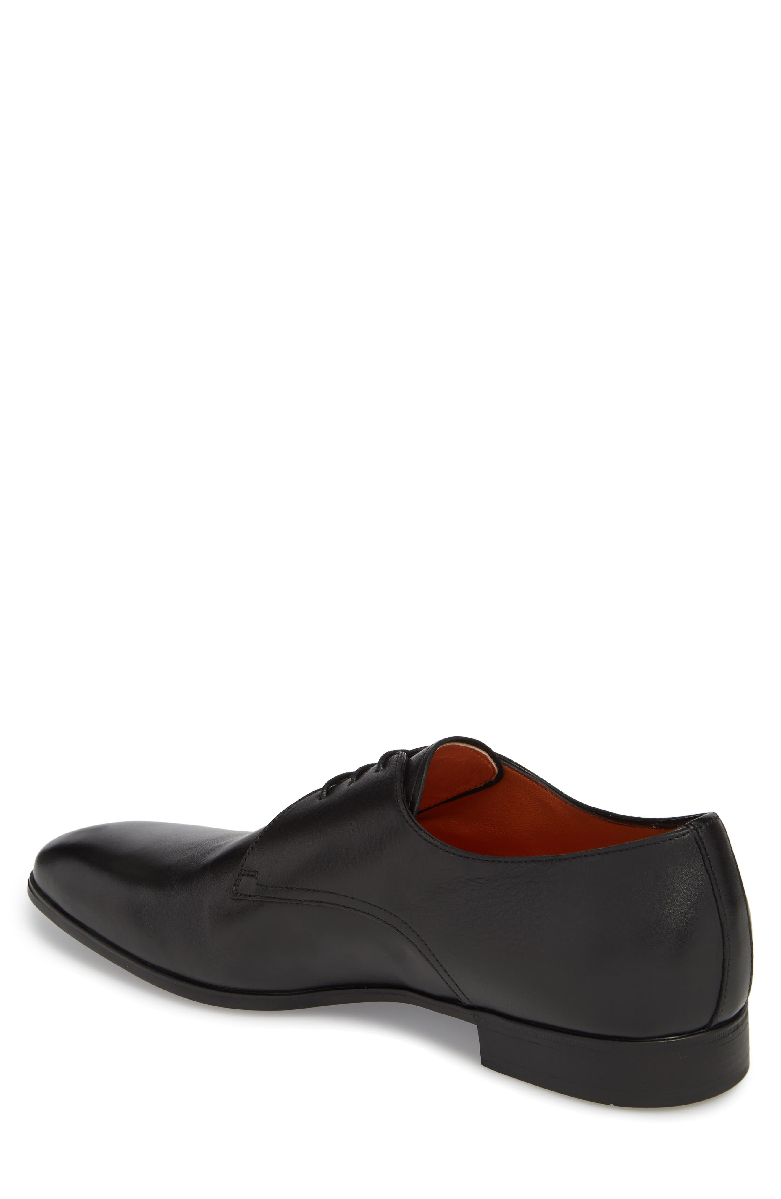 SANTONI,                             Glenn Plain Toe Derby,                             Alternate thumbnail 2, color,                             001