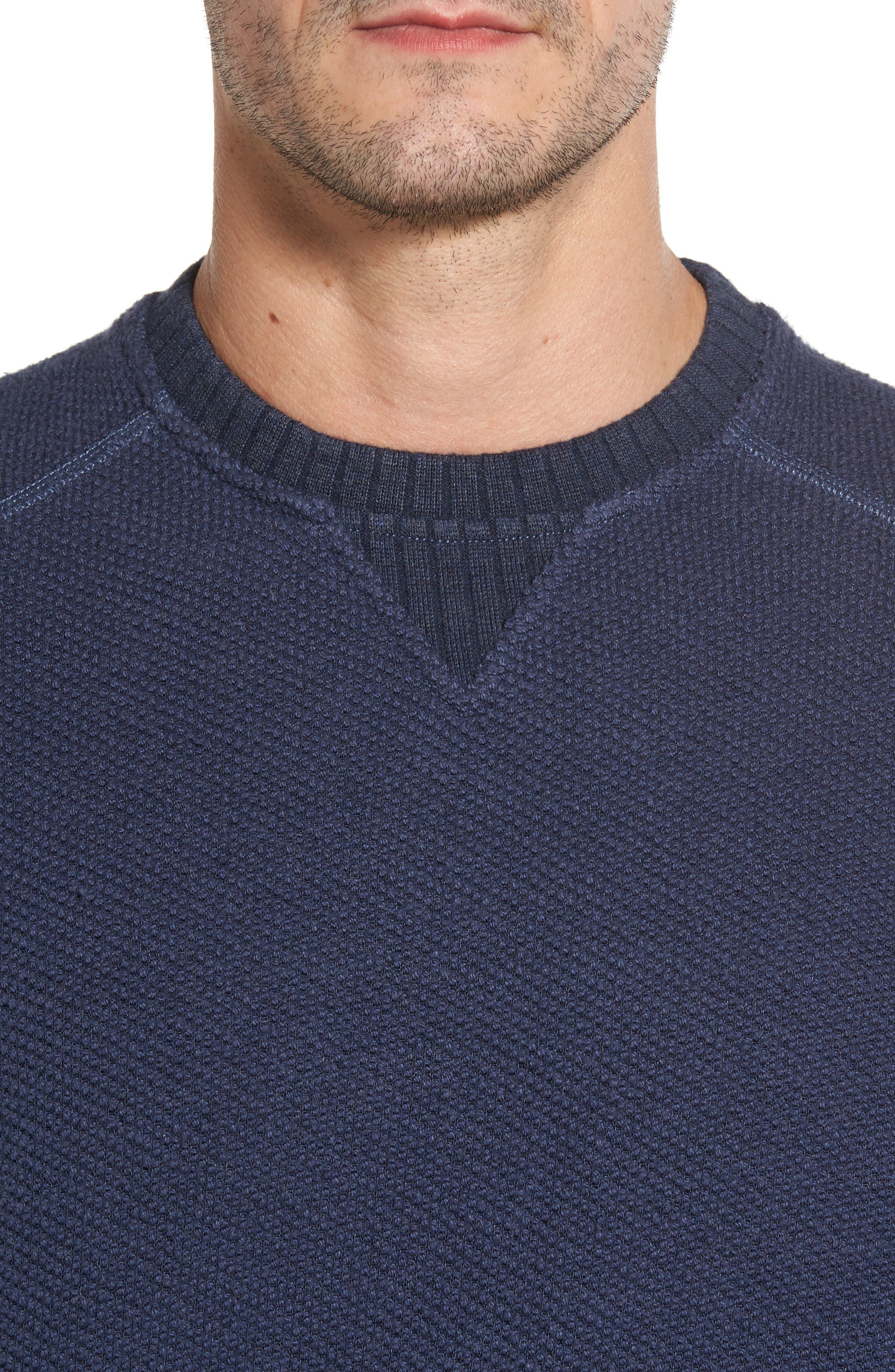 Surfari Crewneck Sweatshirt,                             Alternate thumbnail 4, color,                             001