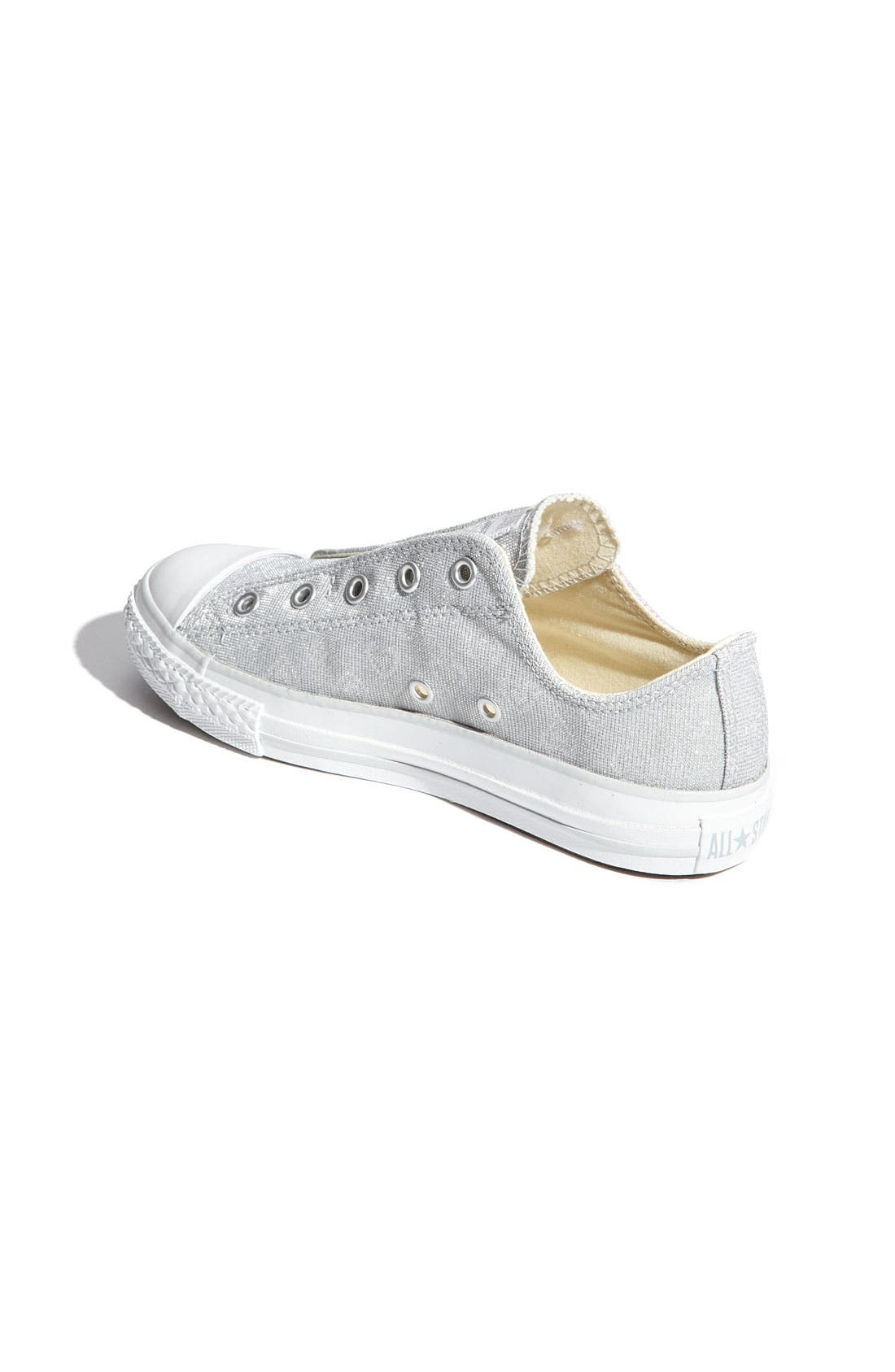 CONVERSE,                             Chuck Taylor<sup>®</sup> 'Holographic Hearts' Slip-On Sneaker,                             Alternate thumbnail 3, color,                             040
