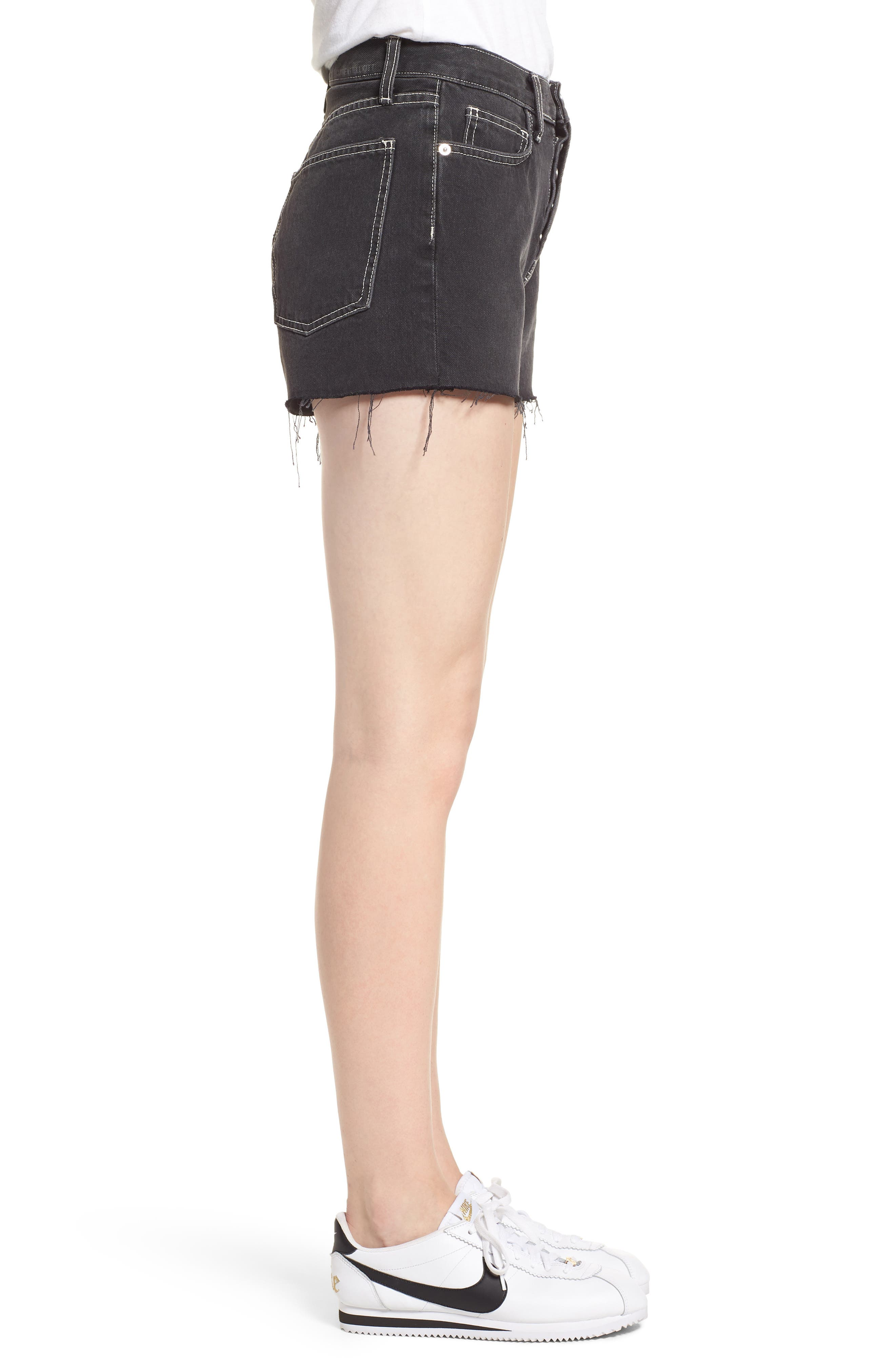 The Ultra High Waist Denim Shorts,                             Alternate thumbnail 3, color,                             006