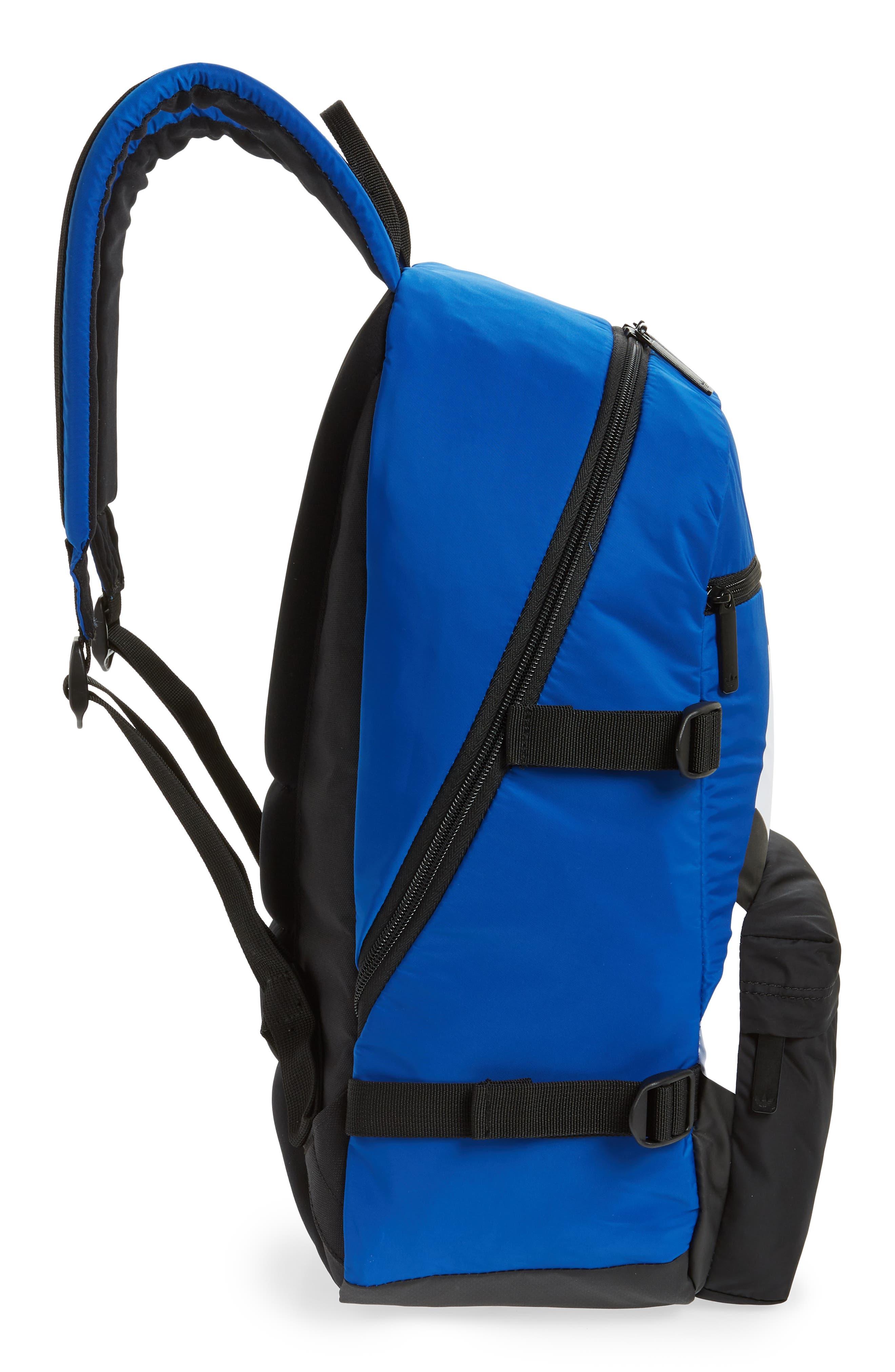 adidas Original EQT Blocked Backpack,                             Alternate thumbnail 5, color,                             COLLEGIATE BLUE/ BLACK/ WHITE