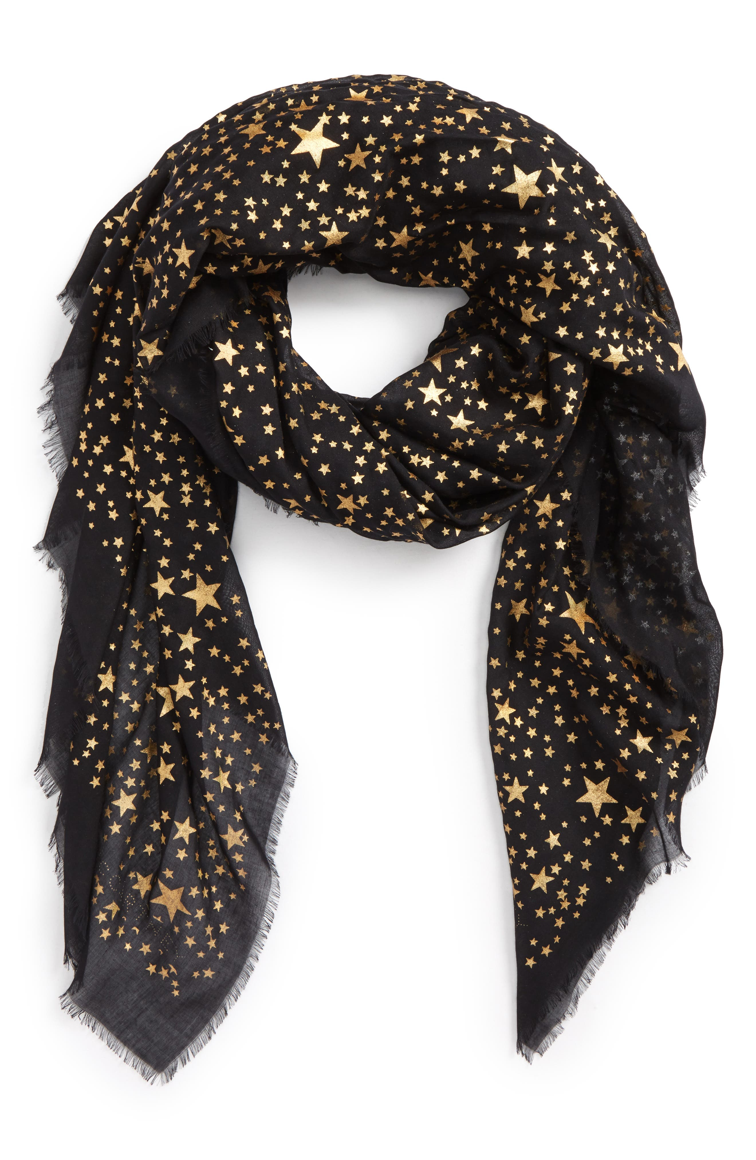 Star Silk & Modal Scarf,                             Alternate thumbnail 2, color,