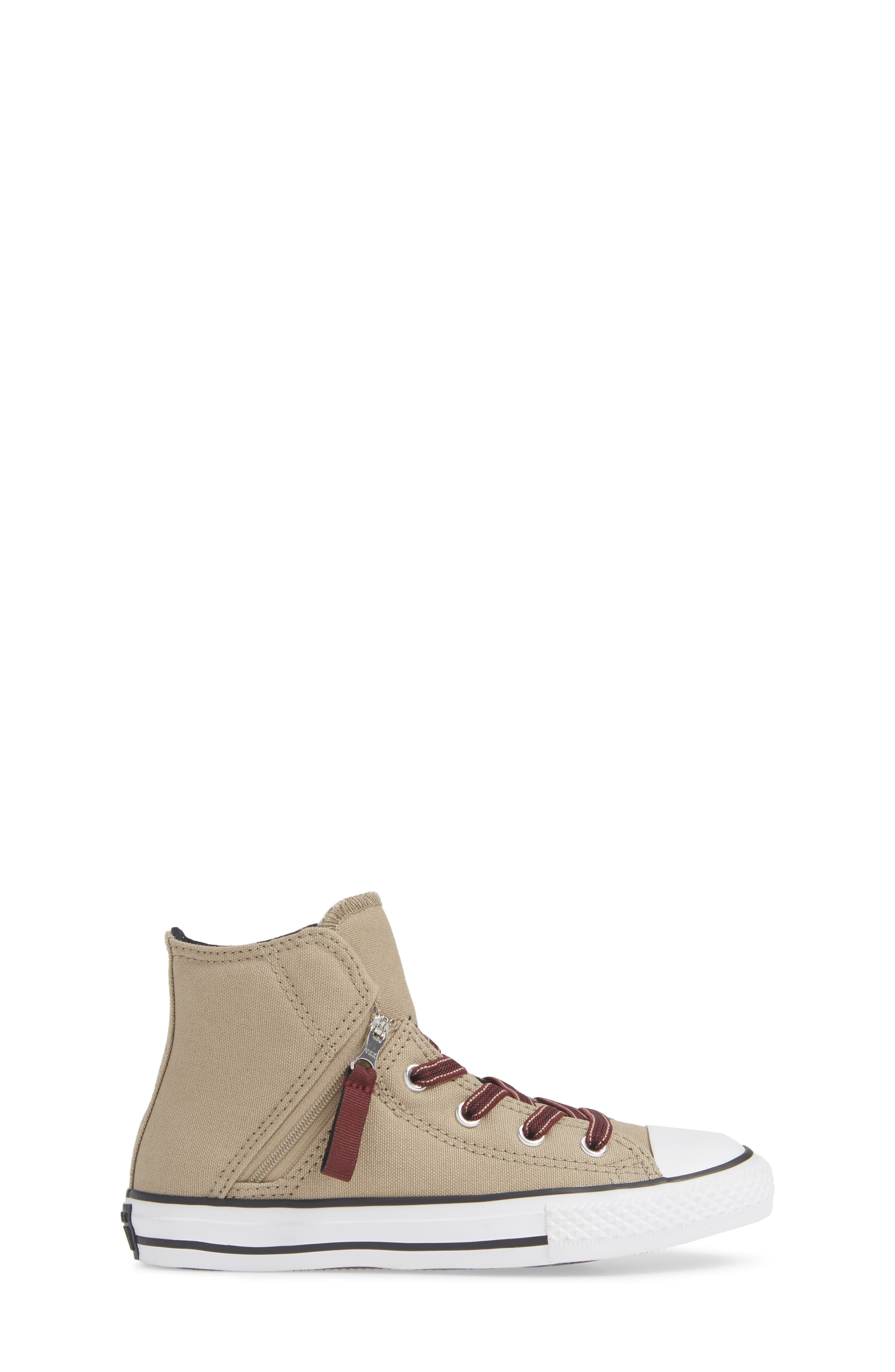 Chuck Taylor<sup>®</sup> All Star<sup>®</sup> Pull Zip High Top Sneaker,                             Alternate thumbnail 3, color,                             KHAKI