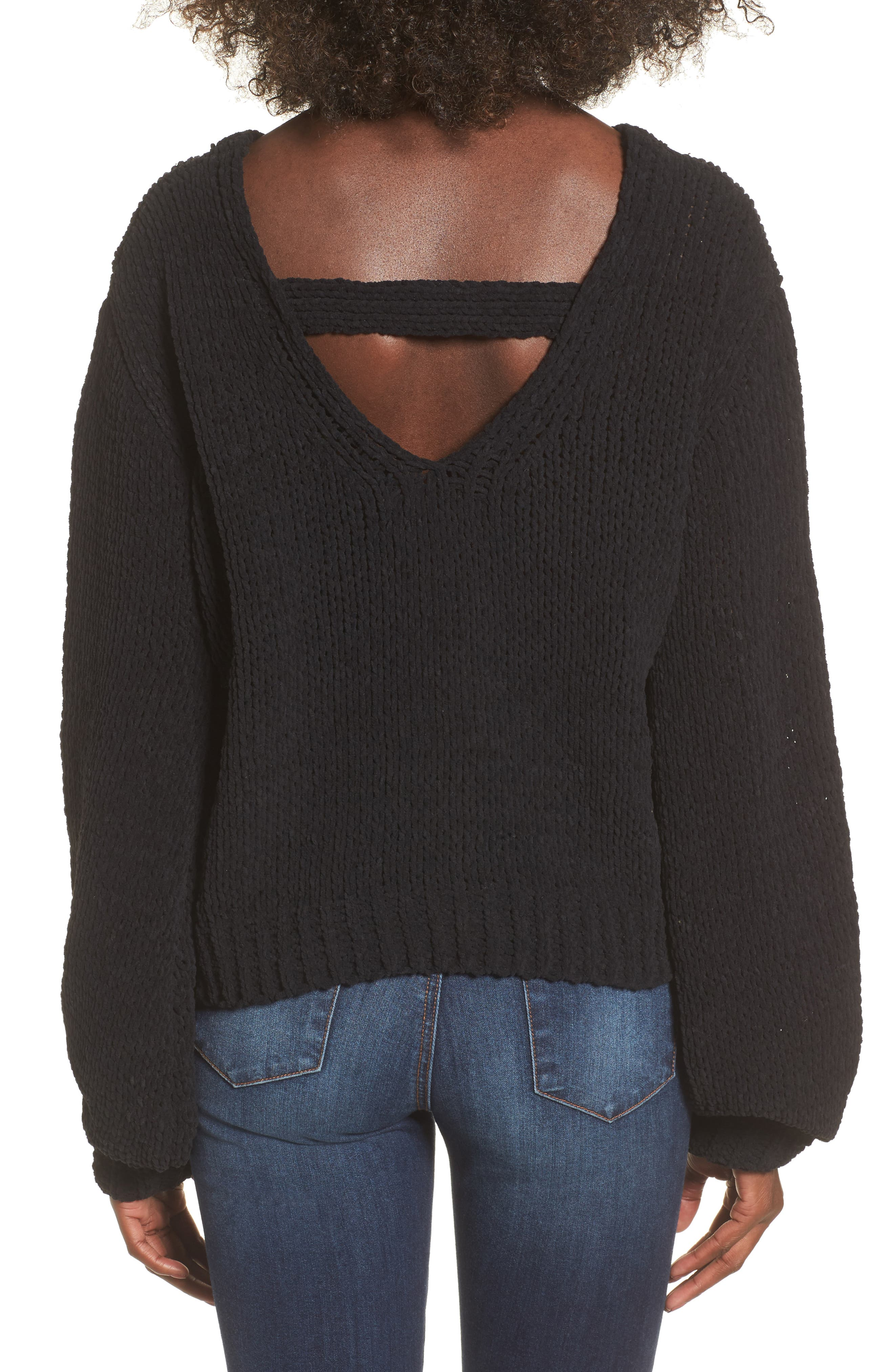 Strappy Sweater,                             Alternate thumbnail 3, color,                             001