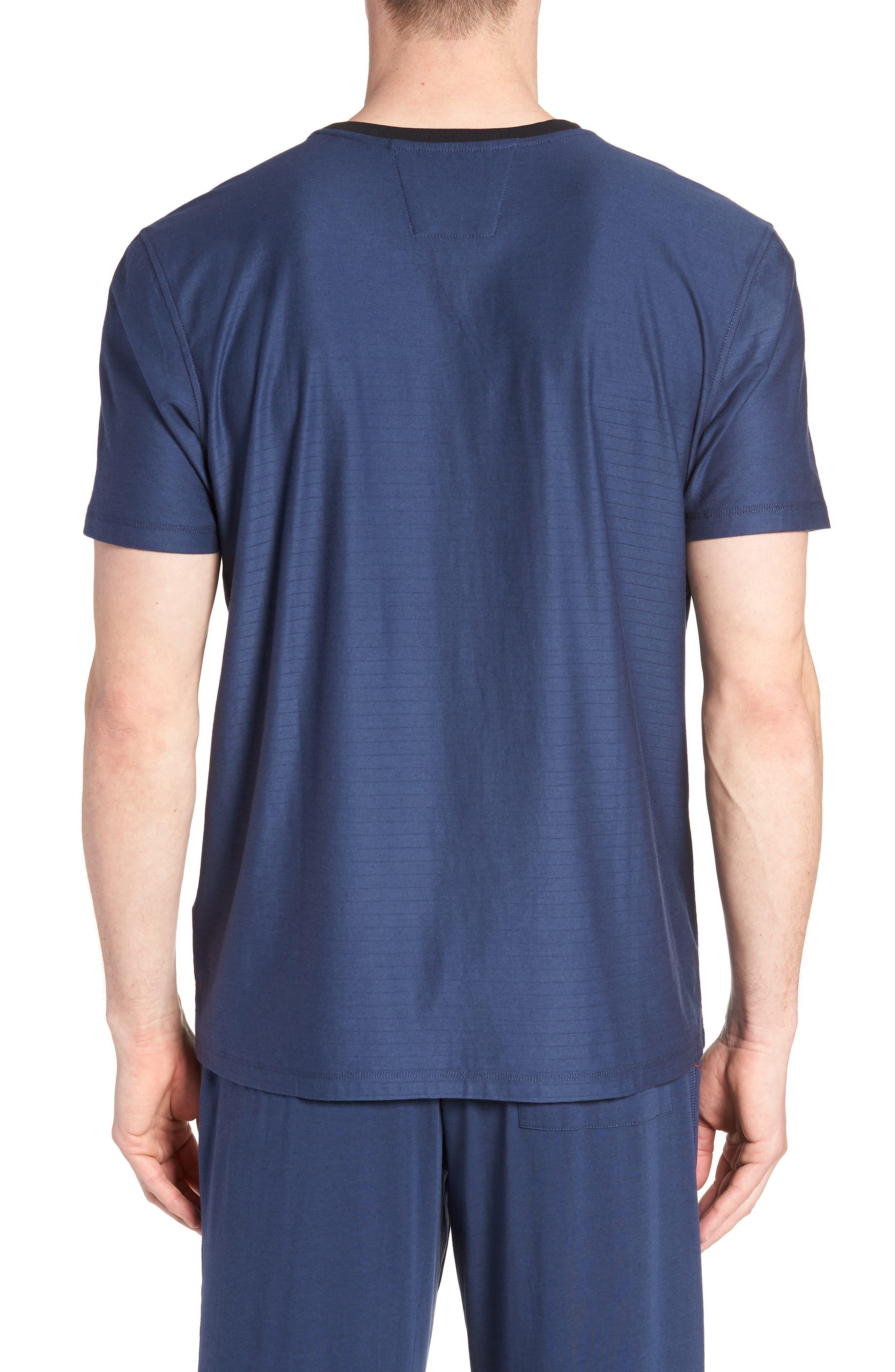 Pima Cotton & Modal Crewneck T-Shirt,                             Alternate thumbnail 2, color,                             NAVY