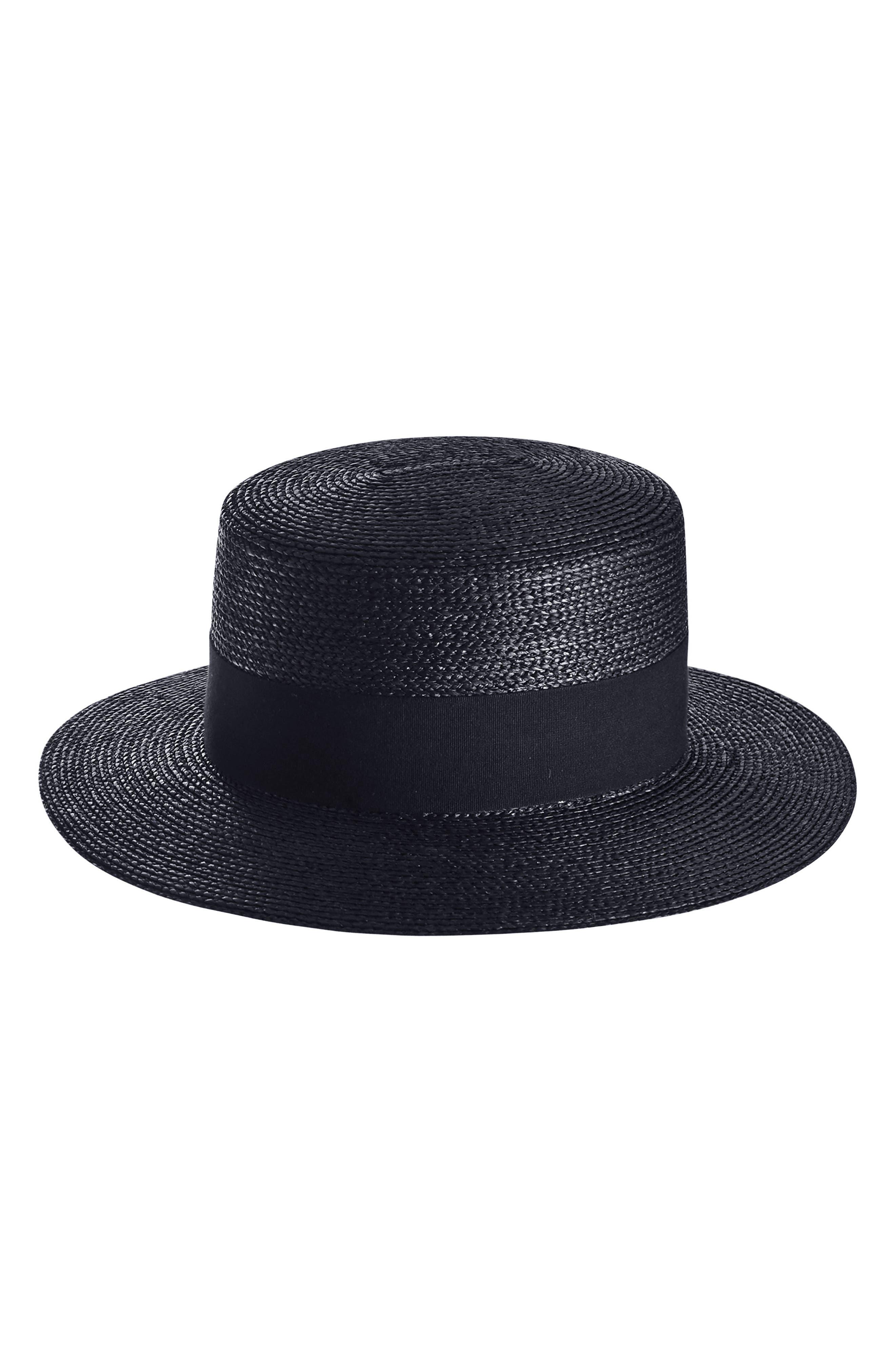 Braided Raffia Boater Hat,                             Alternate thumbnail 2, color,                             003