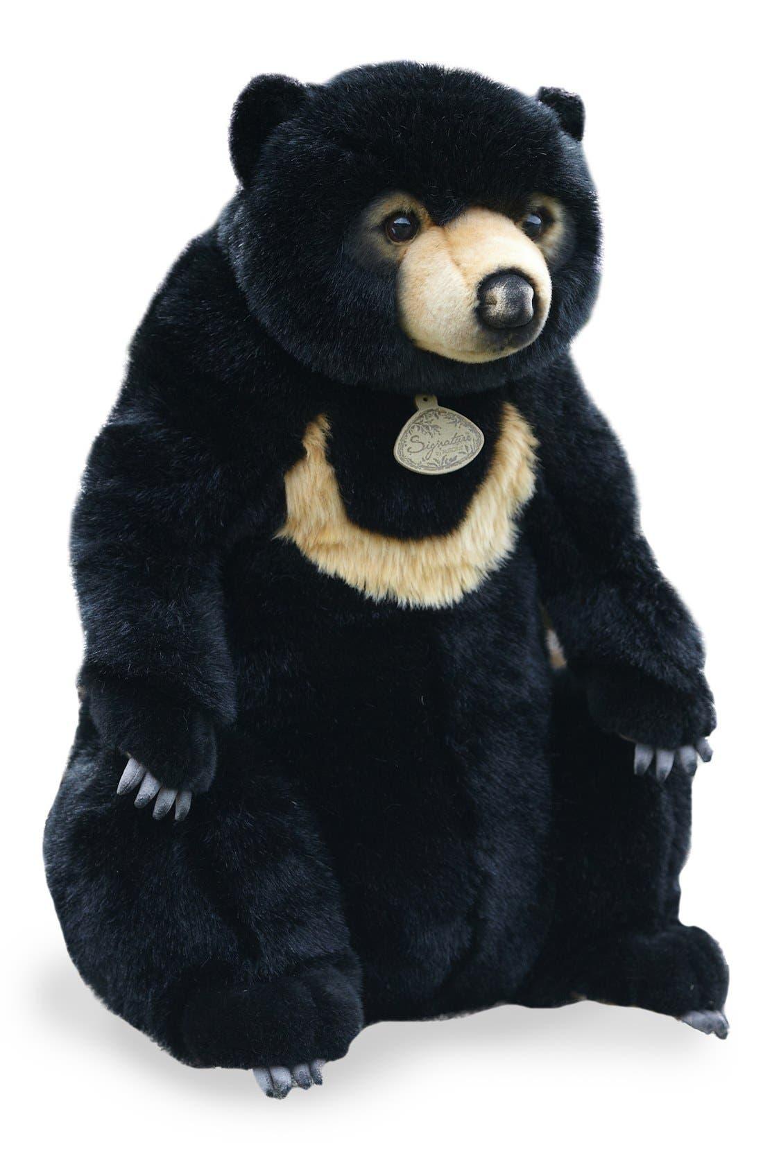 'Sun Bear' Stuffed Animal,                             Main thumbnail 1, color,                             BLACK