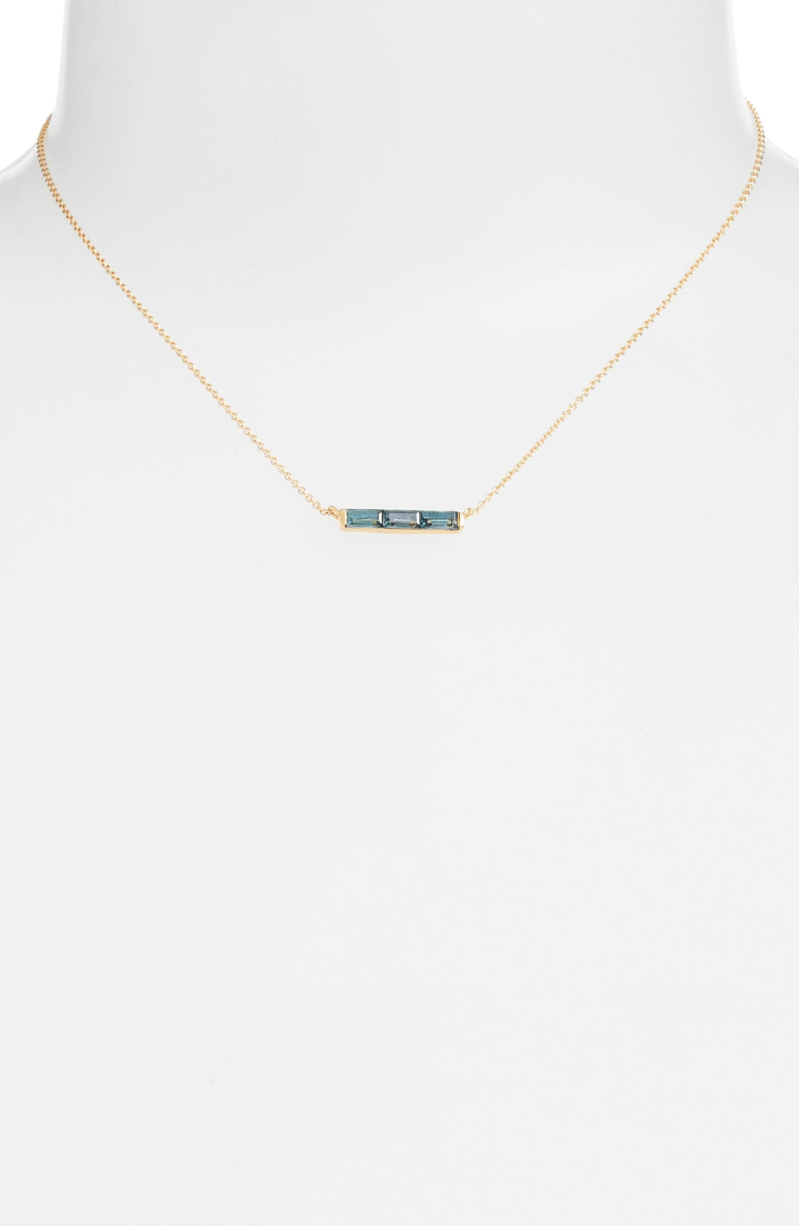 Channel Set Semiprecious Stone Necklace,                             Alternate thumbnail 5, color,