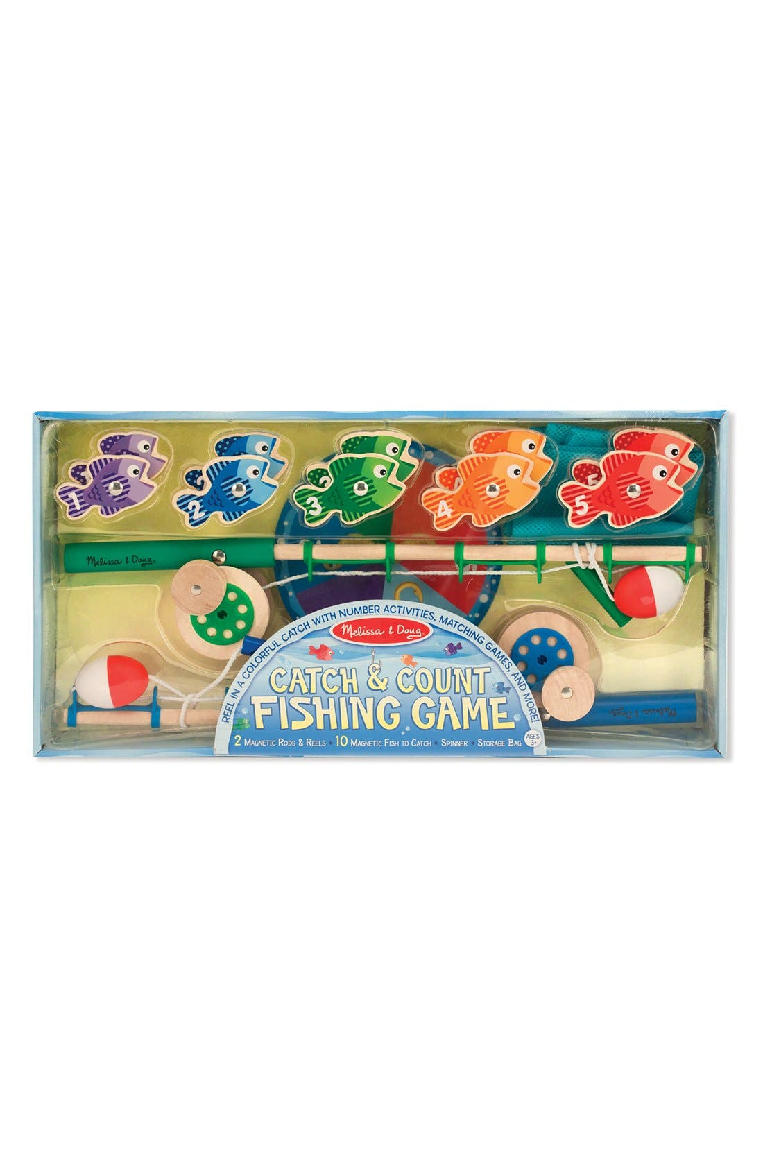 MELISSA & DOUG,                             'Catch & Count' Fishing Game,                             Main thumbnail 1, color,                             BLUE MULTI