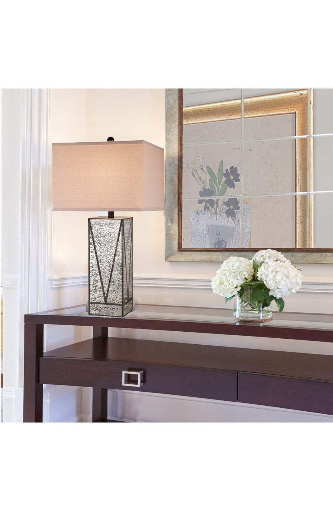 JAlexander Mercury Glass Table Lamp,                             Alternate thumbnail 2, color,                             SILVER/ BLACK