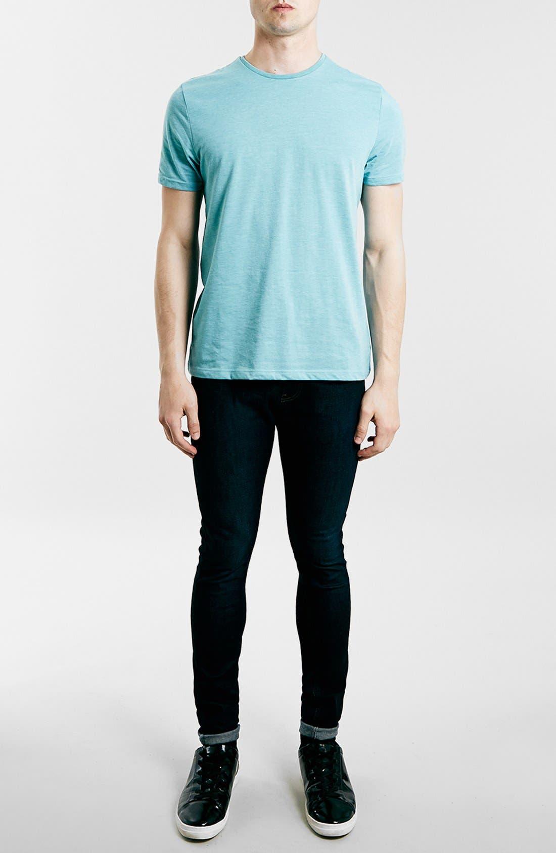Slim Fit Crewneck T-Shirt,                             Alternate thumbnail 256, color,