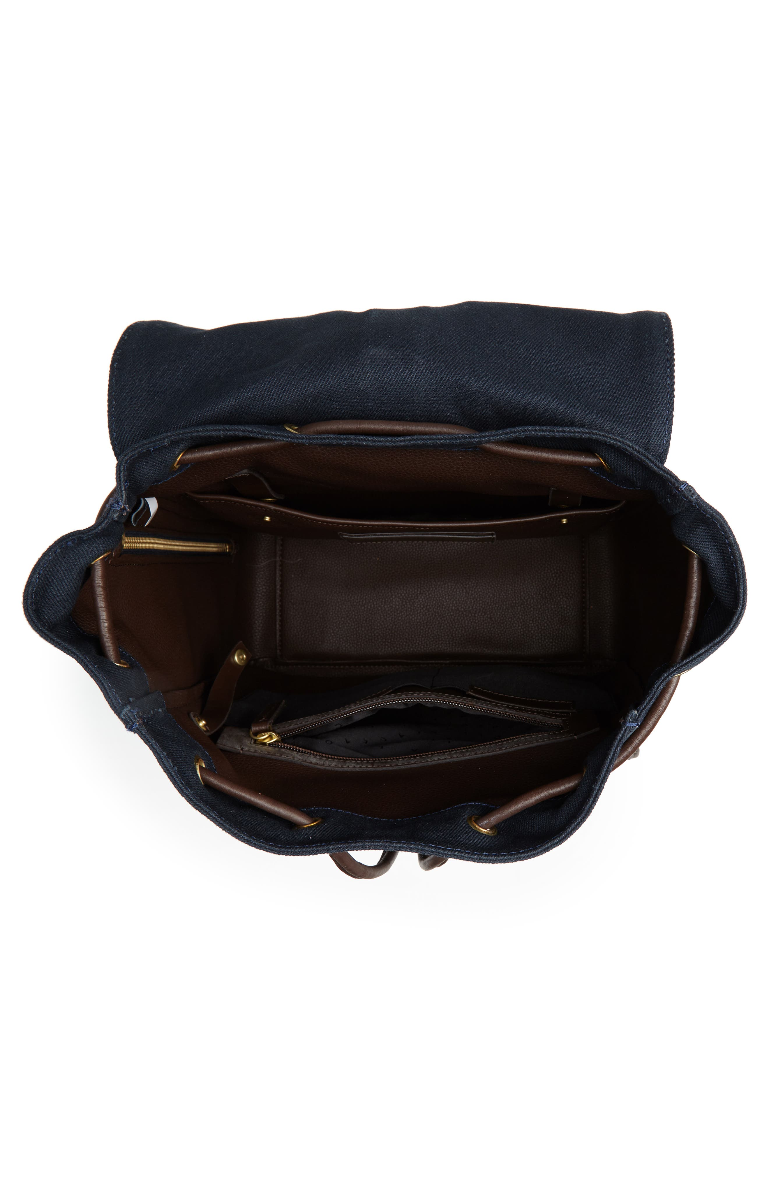 Canvas Backpack,                             Alternate thumbnail 4, color,                             NAVY