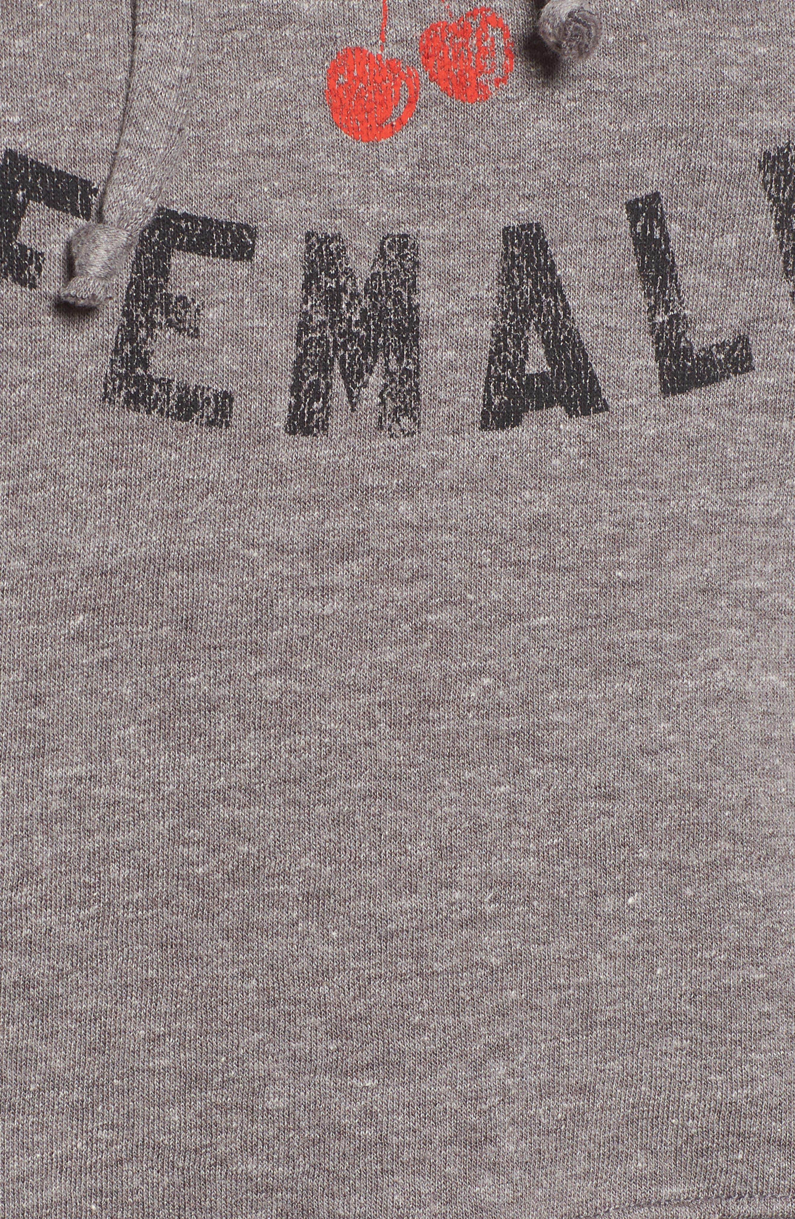 x Erin & Sara Alpha Female Crop Sweatshirt,                             Alternate thumbnail 5, color,                             050