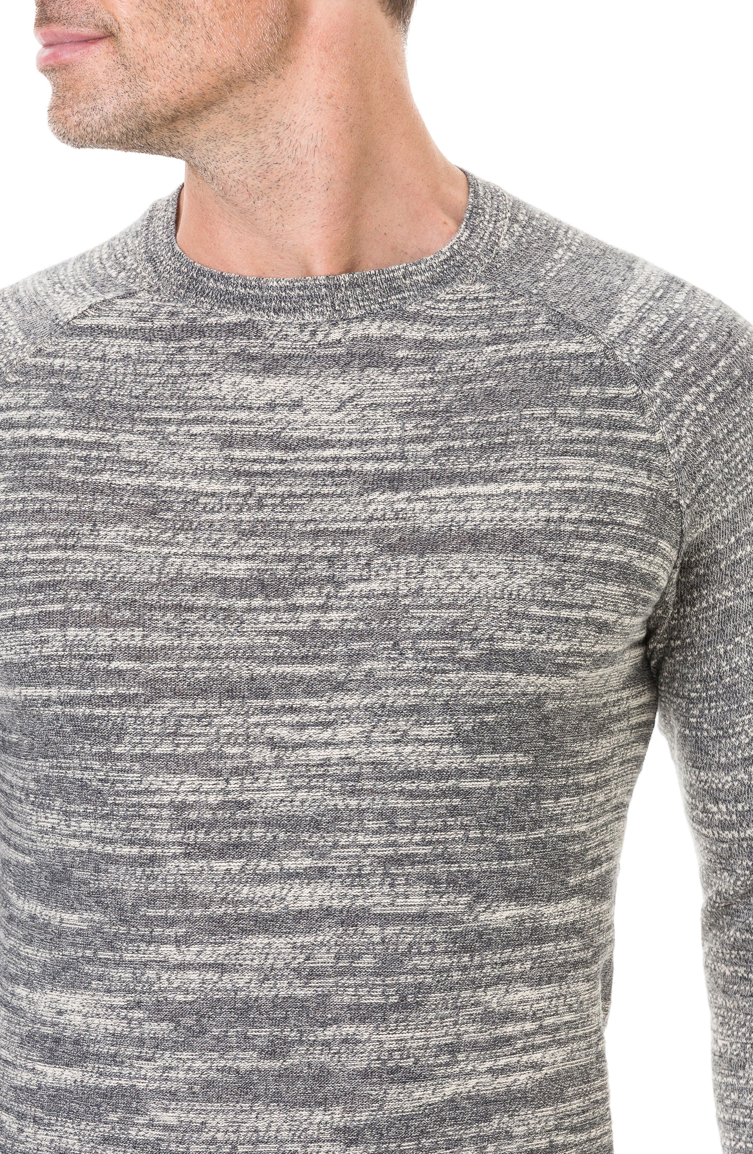 Atley Road Regular Fit Raglan Shirt,                             Alternate thumbnail 4, color,                             GRANITE