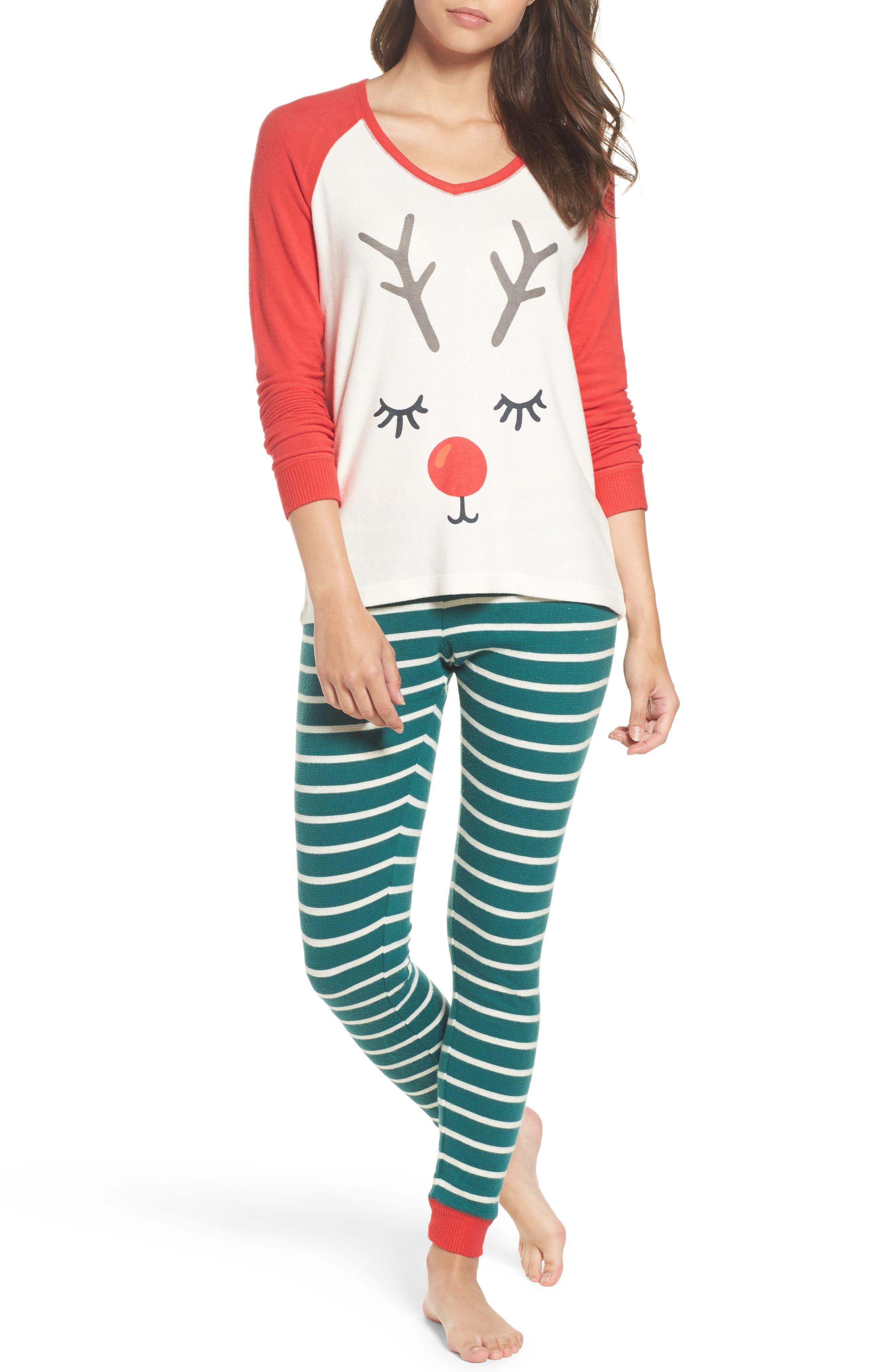 Snow Day Graphic Pajamas,                             Main thumbnail 6, color,