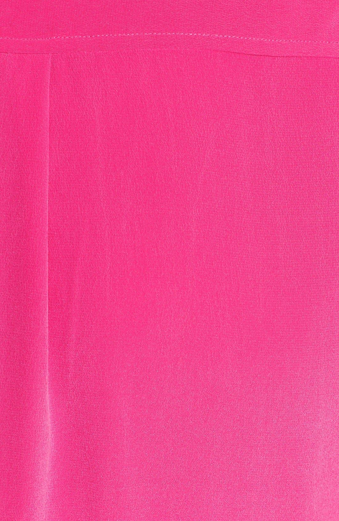 'Slim Signature' Sleeveless Silk Shirt,                             Alternate thumbnail 131, color,