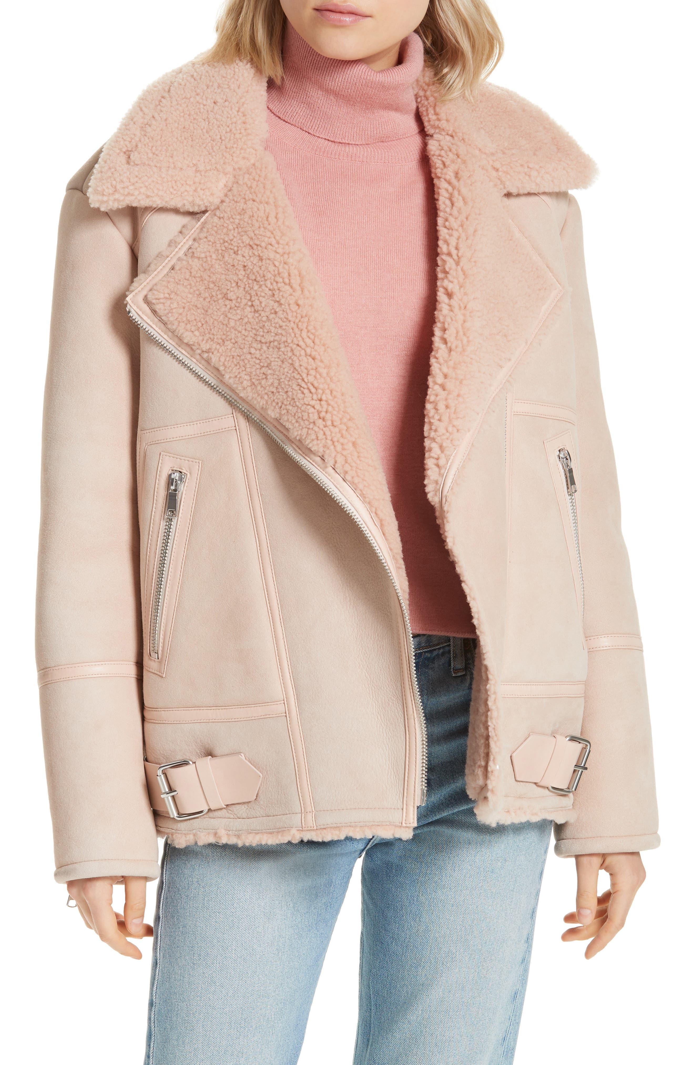 Joie Darnesha Genuine Shearling Jacket, Beige