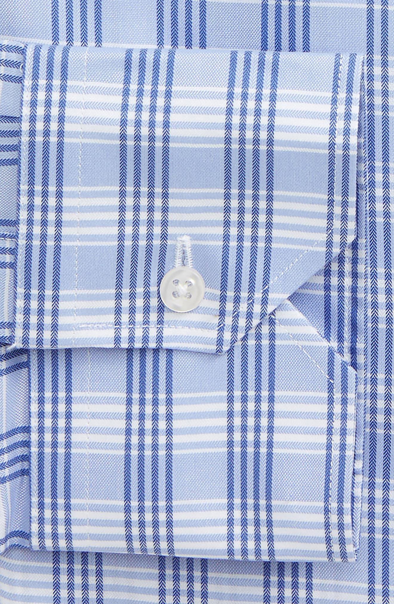 Traditional Fit No-Iron Check Dress Shirt,                             Alternate thumbnail 2, color,                             450