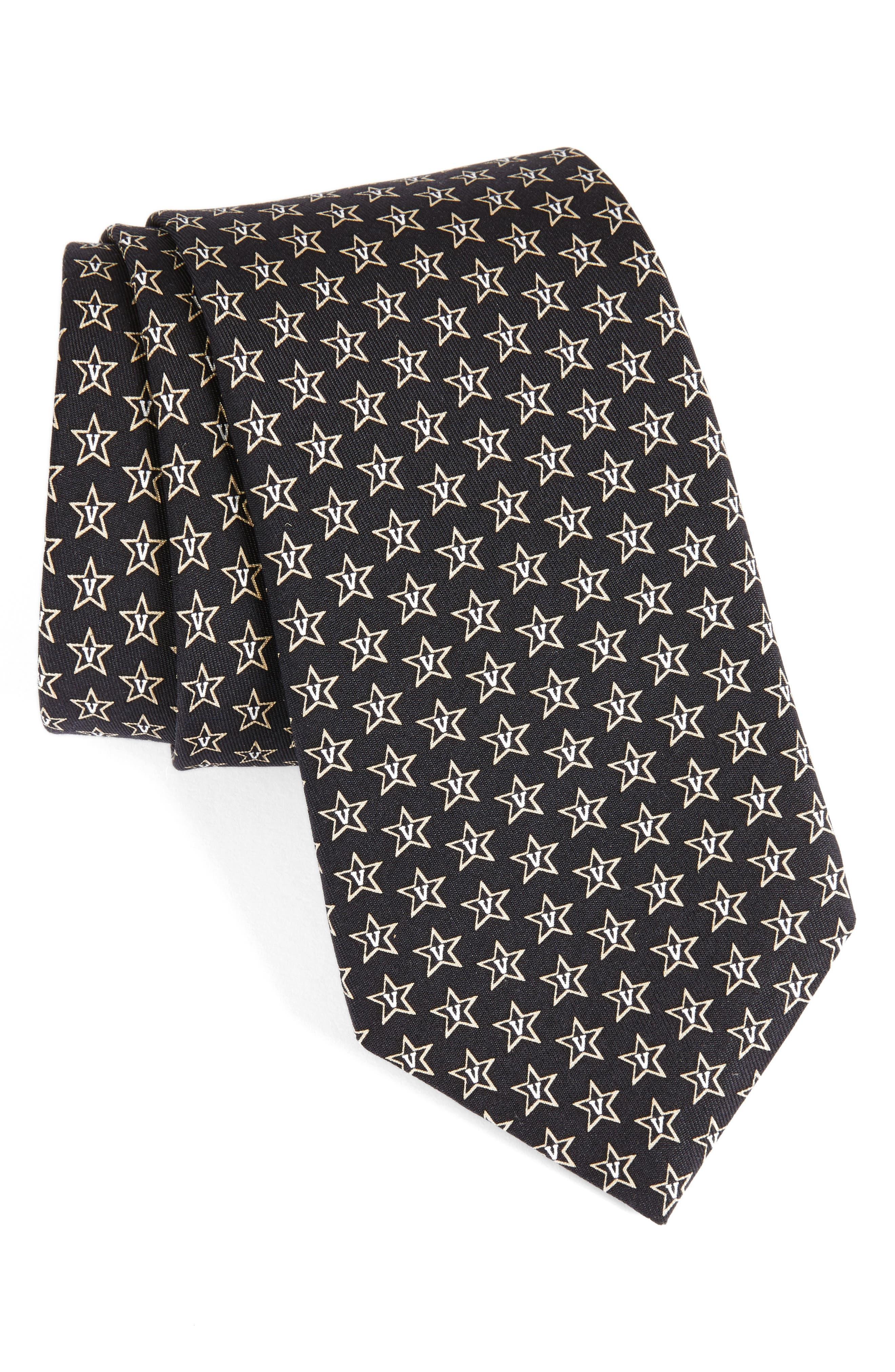 Vanderbilt University Silk Tie,                             Main thumbnail 1, color,                             001